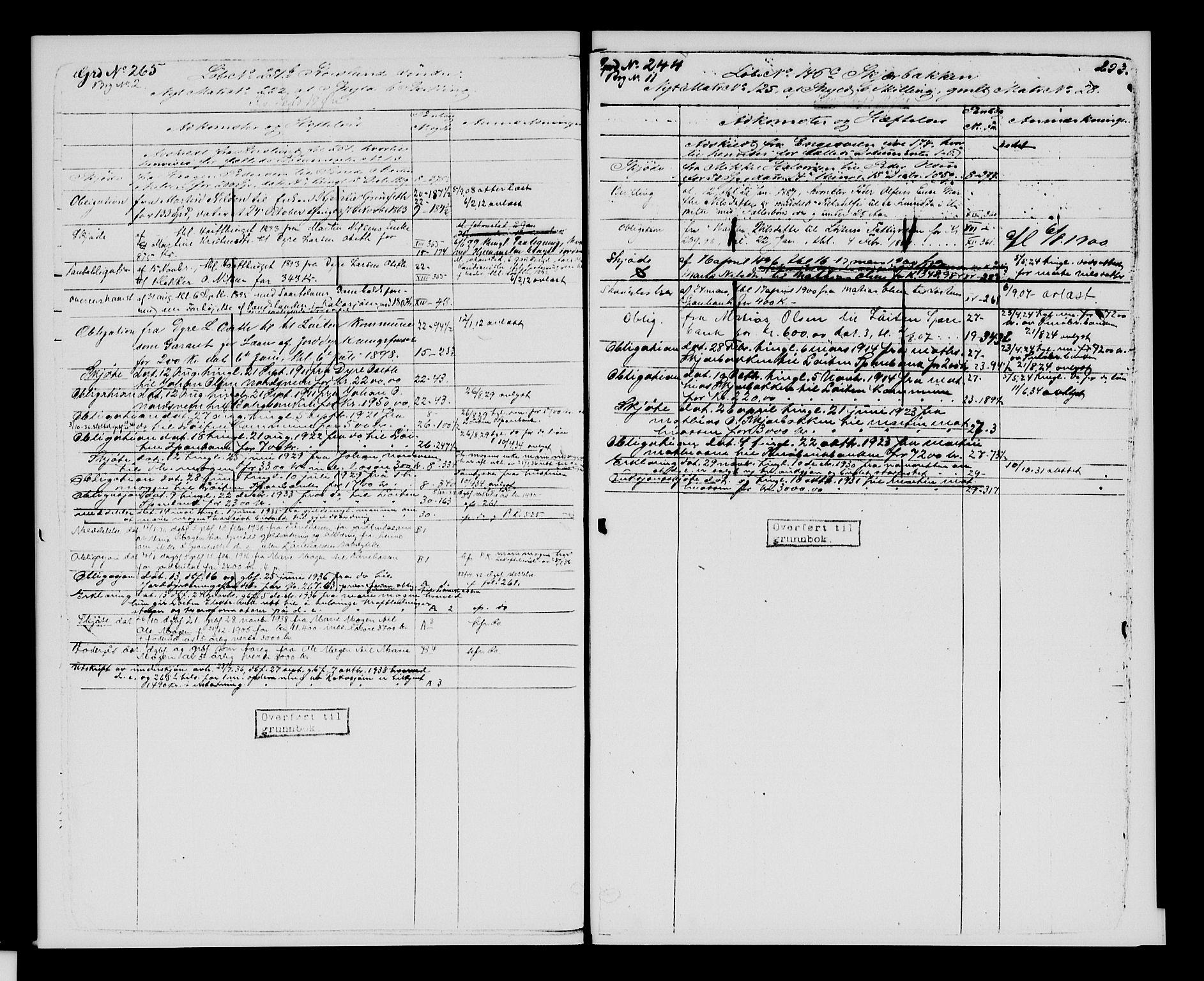 SAH, Sør-Hedmark sorenskriveri, H/Ha/Hac/Hacc/L0001: Panteregister nr. 3.1, 1855-1943, s. 293