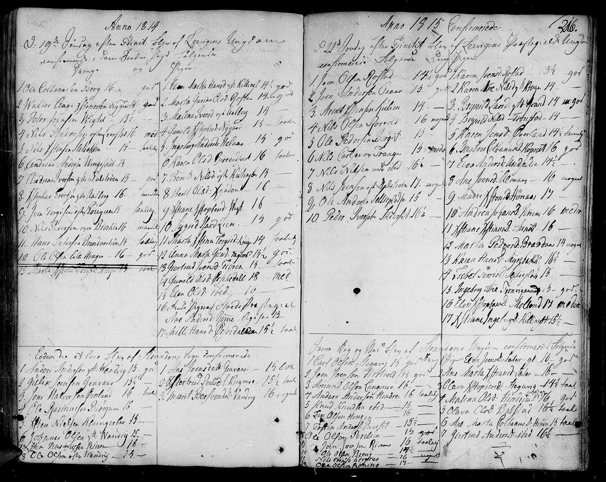 SAT, Ministerialprotokoller, klokkerbøker og fødselsregistre - Nord-Trøndelag, 701/L0004: Ministerialbok nr. 701A04, 1783-1816, s. 216
