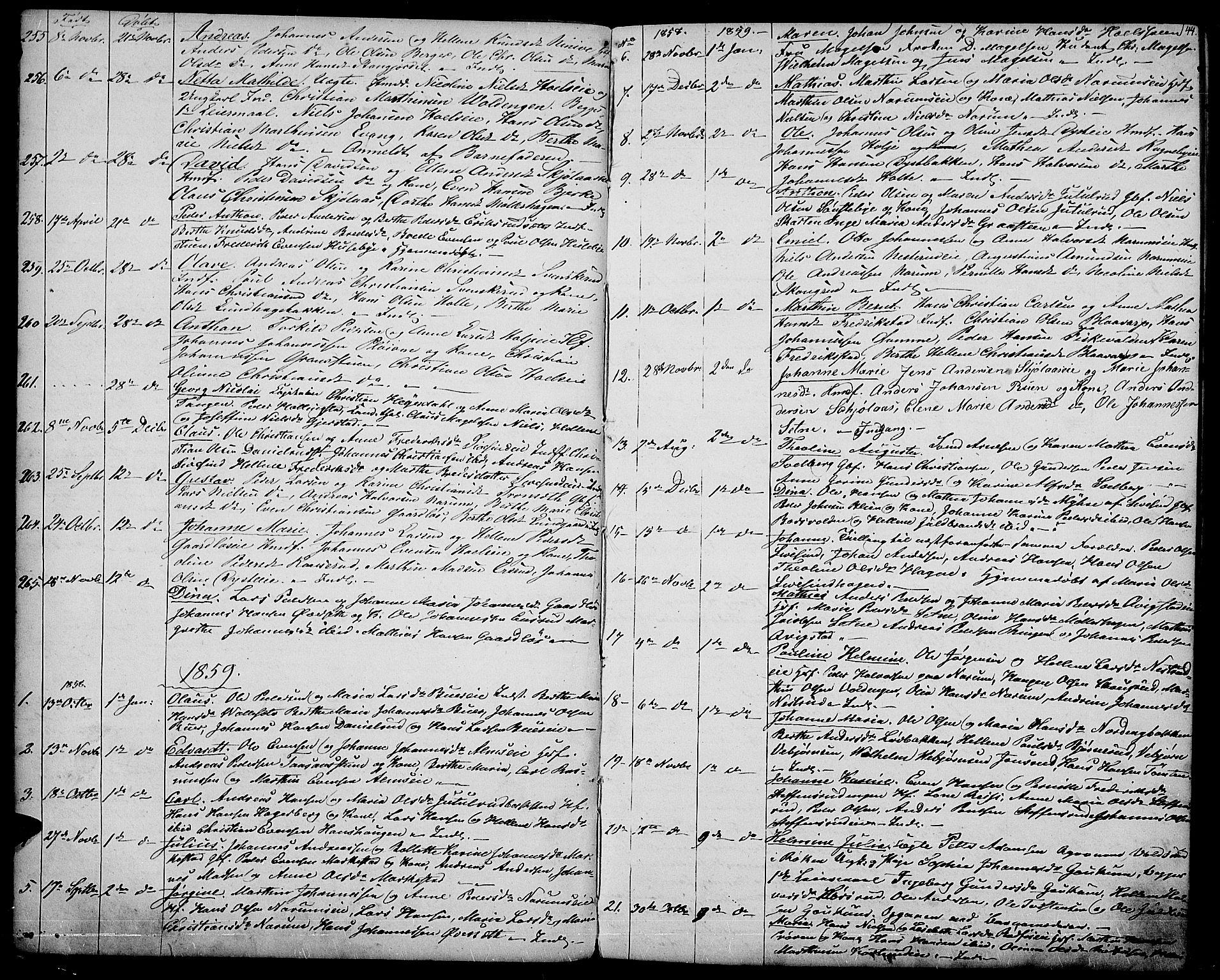 SAH, Vestre Toten prestekontor, Klokkerbok nr. 5, 1854-1870, s. 44