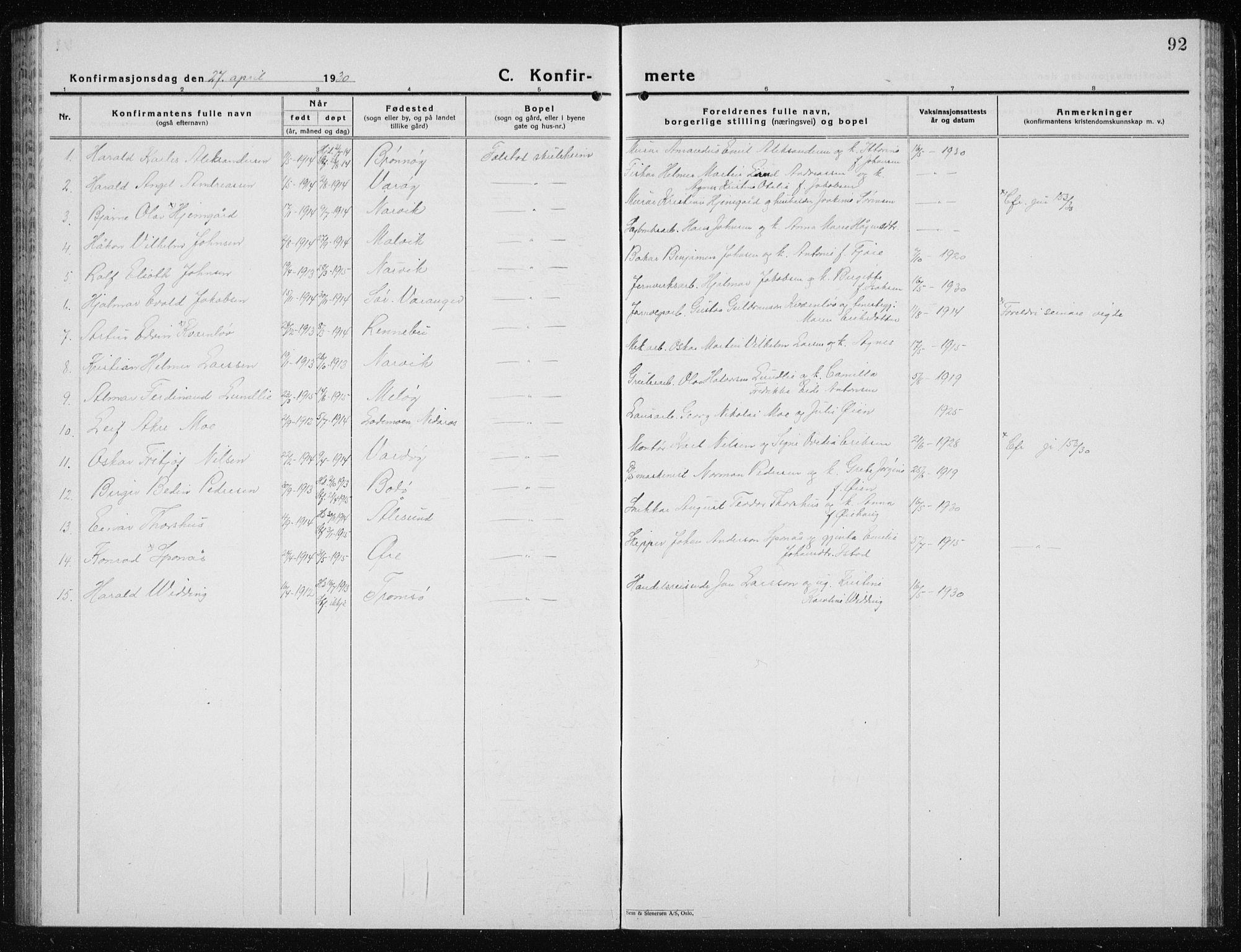 SAT, Ministerialprotokoller, klokkerbøker og fødselsregistre - Nord-Trøndelag, 719/L0180: Klokkerbok nr. 719C01, 1878-1940, s. 92