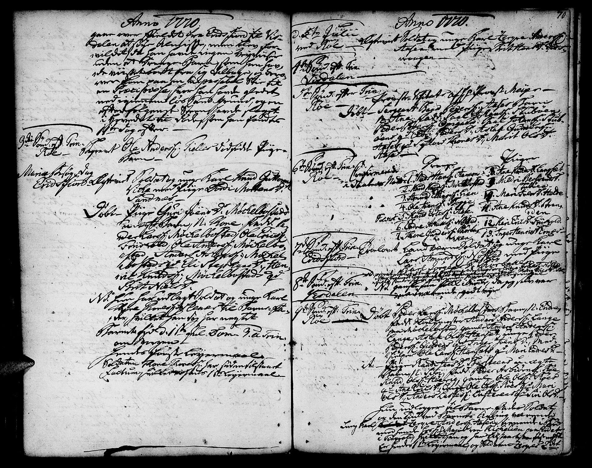 SAT, Ministerialprotokoller, klokkerbøker og fødselsregistre - Møre og Romsdal, 551/L0621: Ministerialbok nr. 551A01, 1757-1803, s. 70