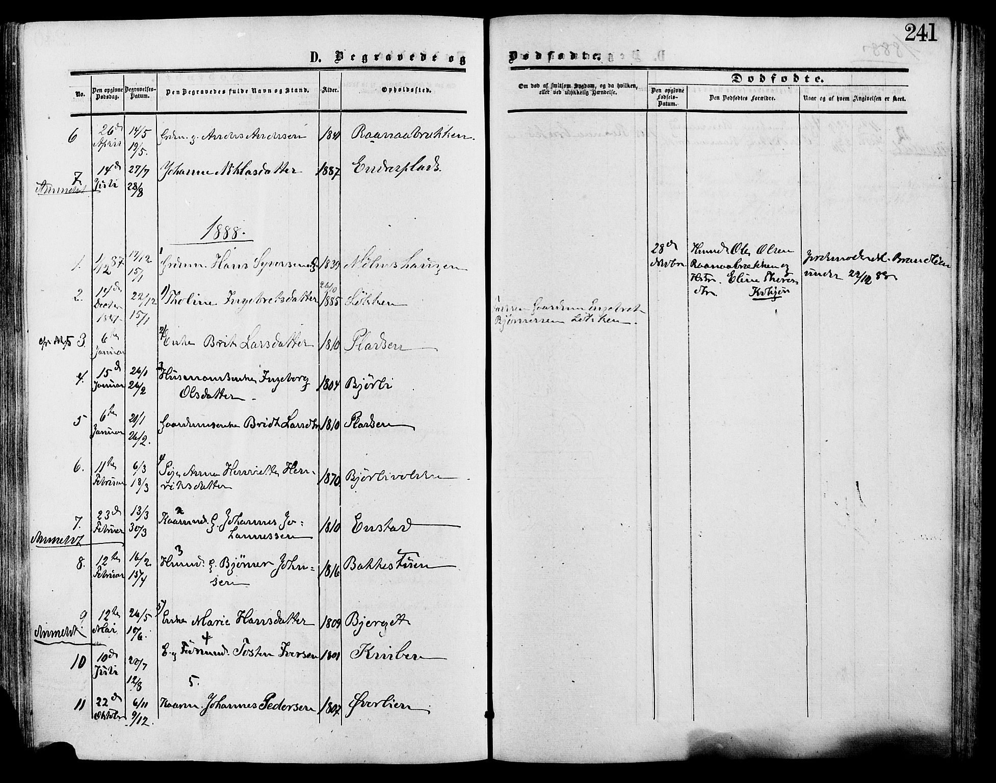 SAH, Lesja prestekontor, Ministerialbok nr. 9, 1854-1889, s. 241