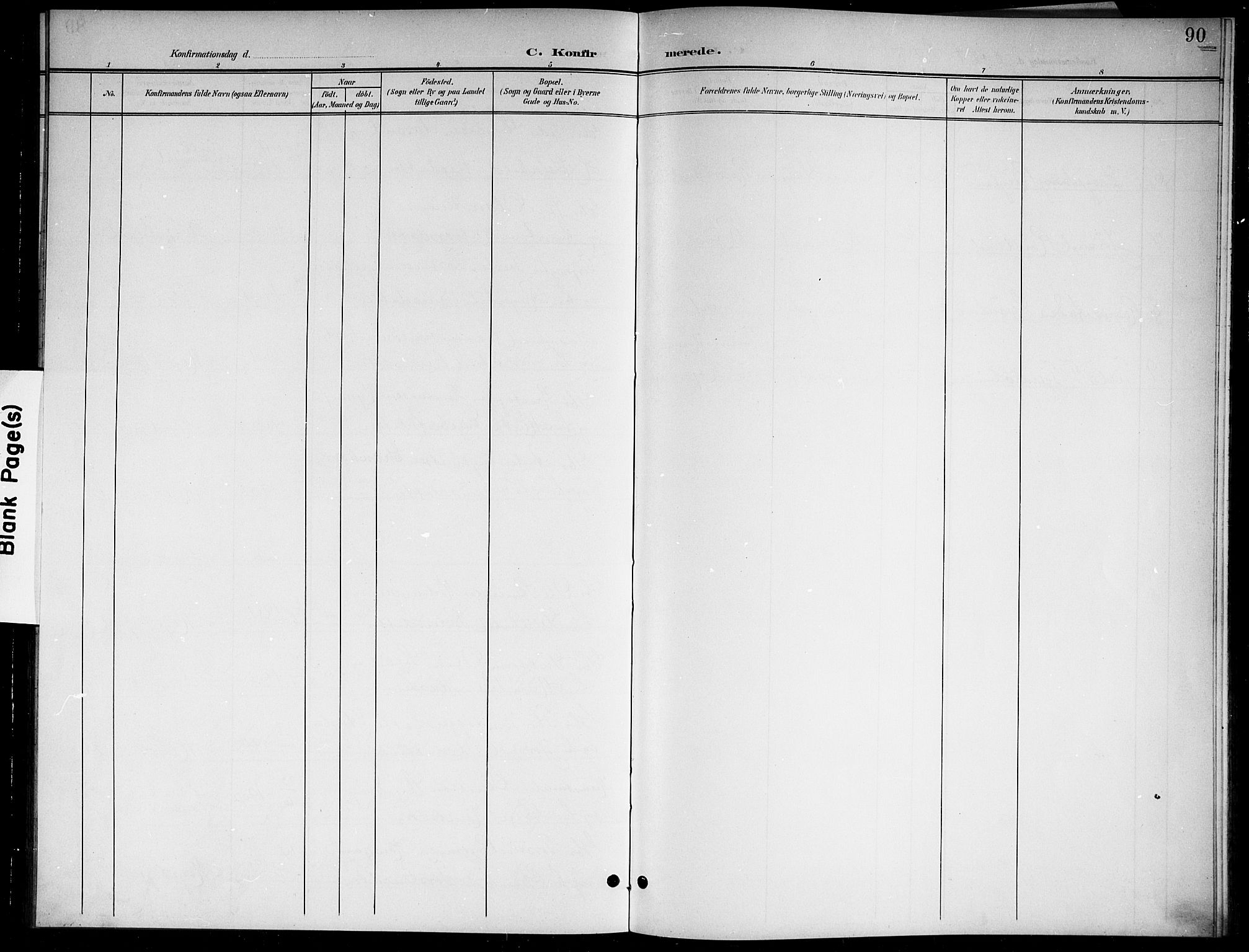 SAKO, Sigdal kirkebøker, G/Gb/L0003: Klokkerbok nr. II 3, 1901-1916, s. 90
