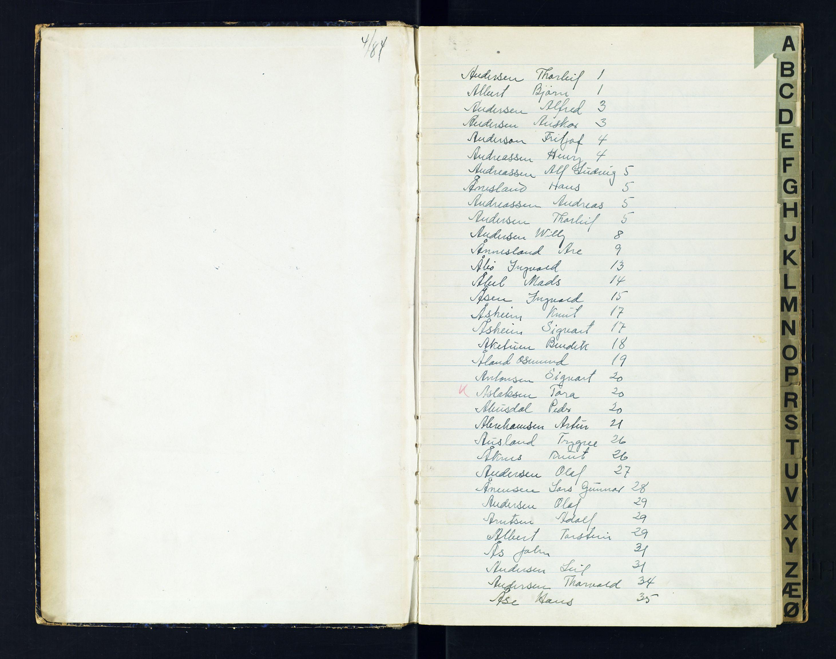 SAK, Kristiansand kretsfengsel, G/Gc/L0009: Register til Gefangenen-Buch B, arresterte, nr 49, 1944-1945