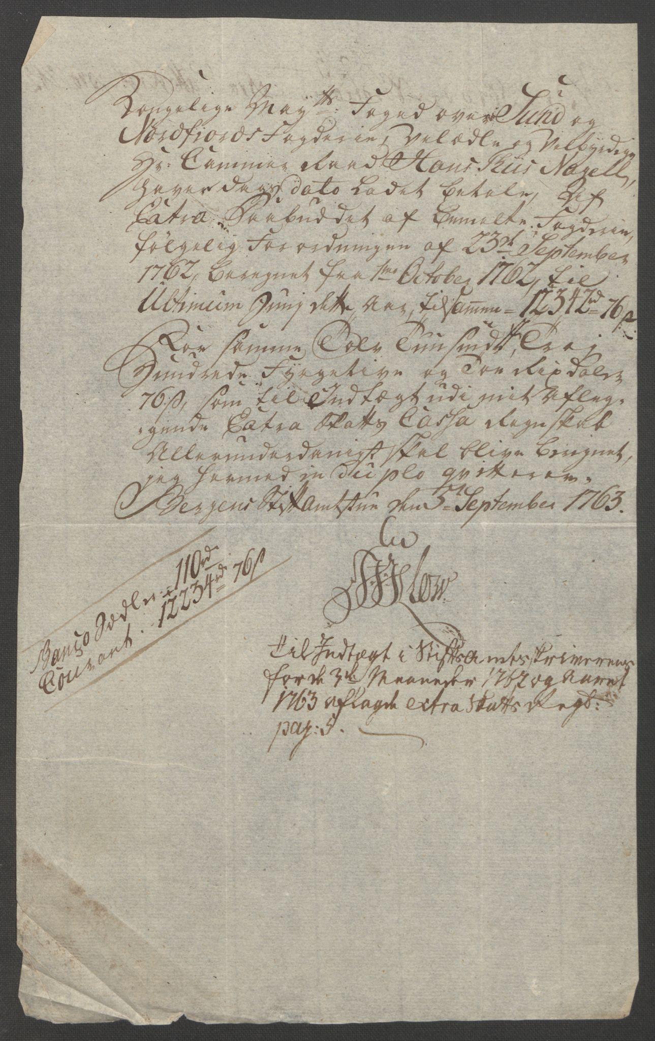 RA, Rentekammeret inntil 1814, Reviderte regnskaper, Fogderegnskap, R53/L3550: Ekstraskatten Sunn- og Nordfjord, 1762-1771, s. 28