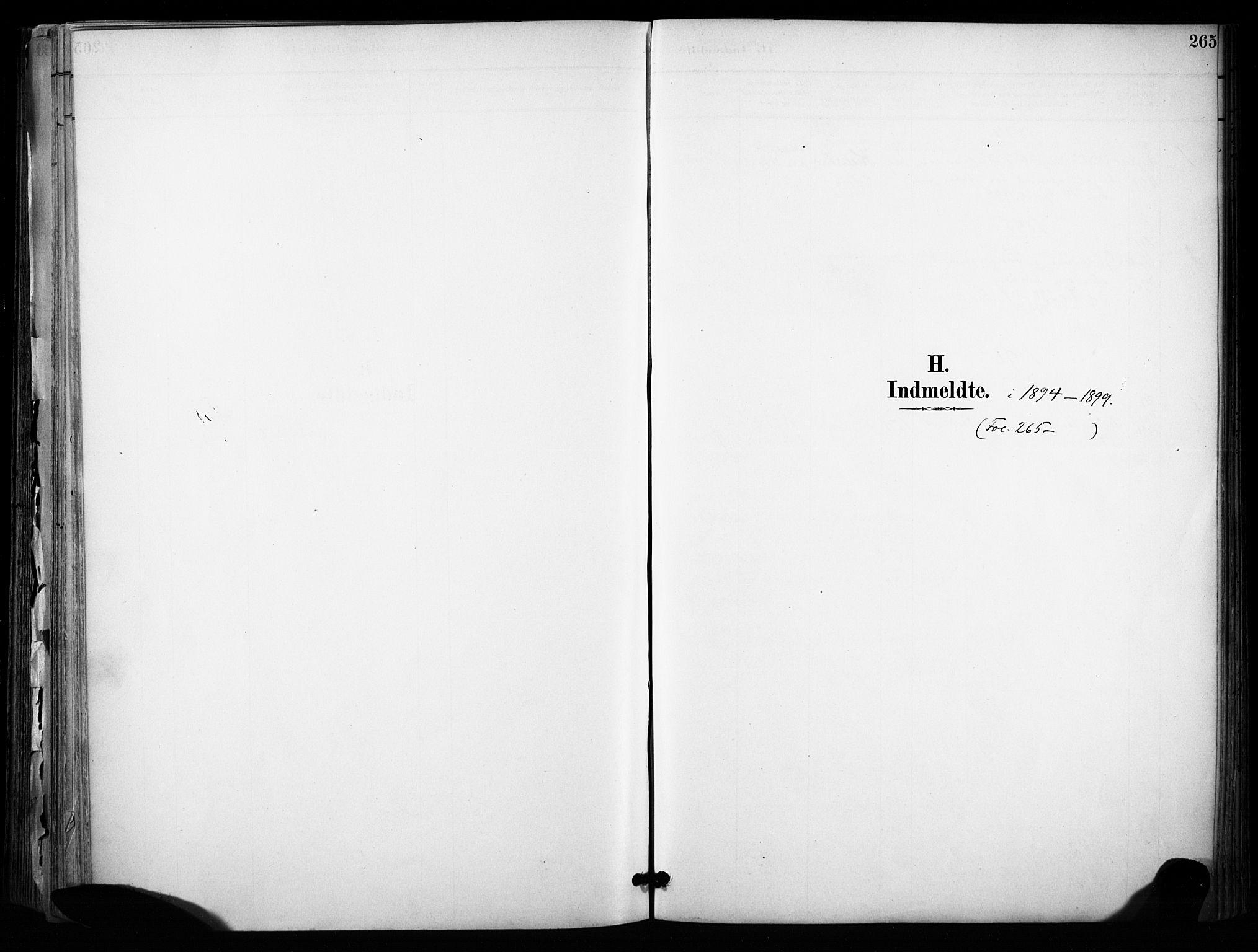 SAKO, Sannidal kirkebøker, F/Fa/L0015: Ministerialbok nr. 15, 1884-1899, s. 265