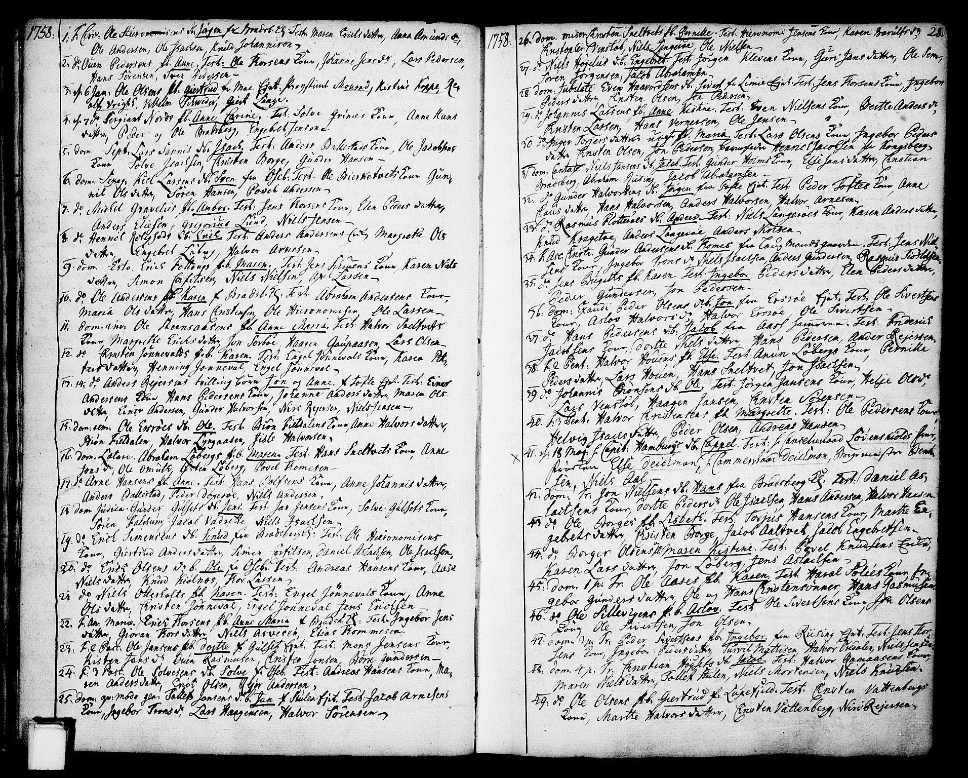 SAKO, Gjerpen kirkebøker, F/Fa/L0002: Ministerialbok nr. 2, 1747-1795, s. 28