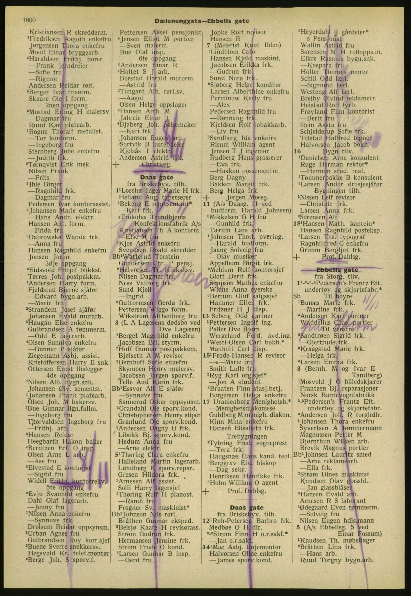 PUBL, Kristiania/Oslo adressebok, 1952, s. 1800