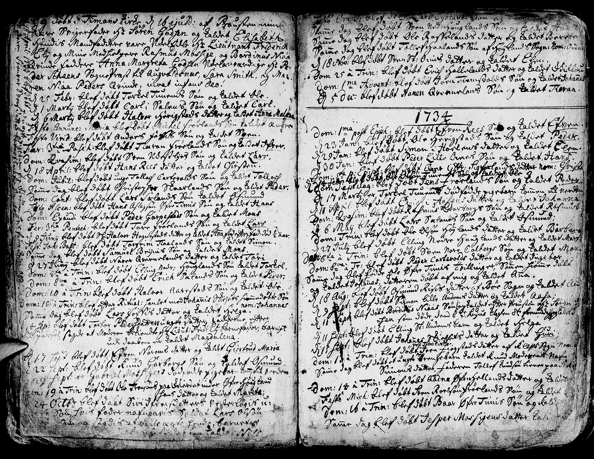 SAST, Lye sokneprestkontor, 30BA/L0001: Ministerialbok nr. A 1 /1, 1725-1800
