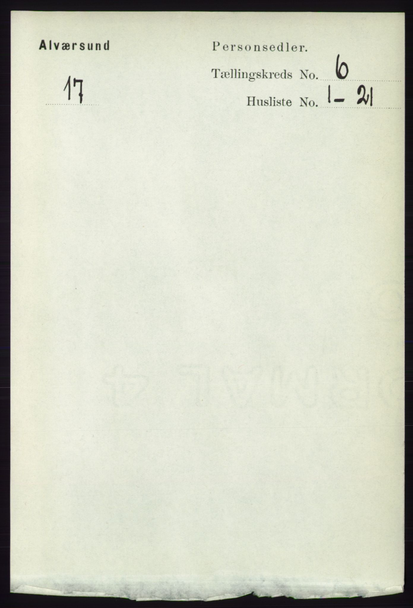 RA, Folketelling 1891 for 1257 Alversund herred, 1891, s. 2046