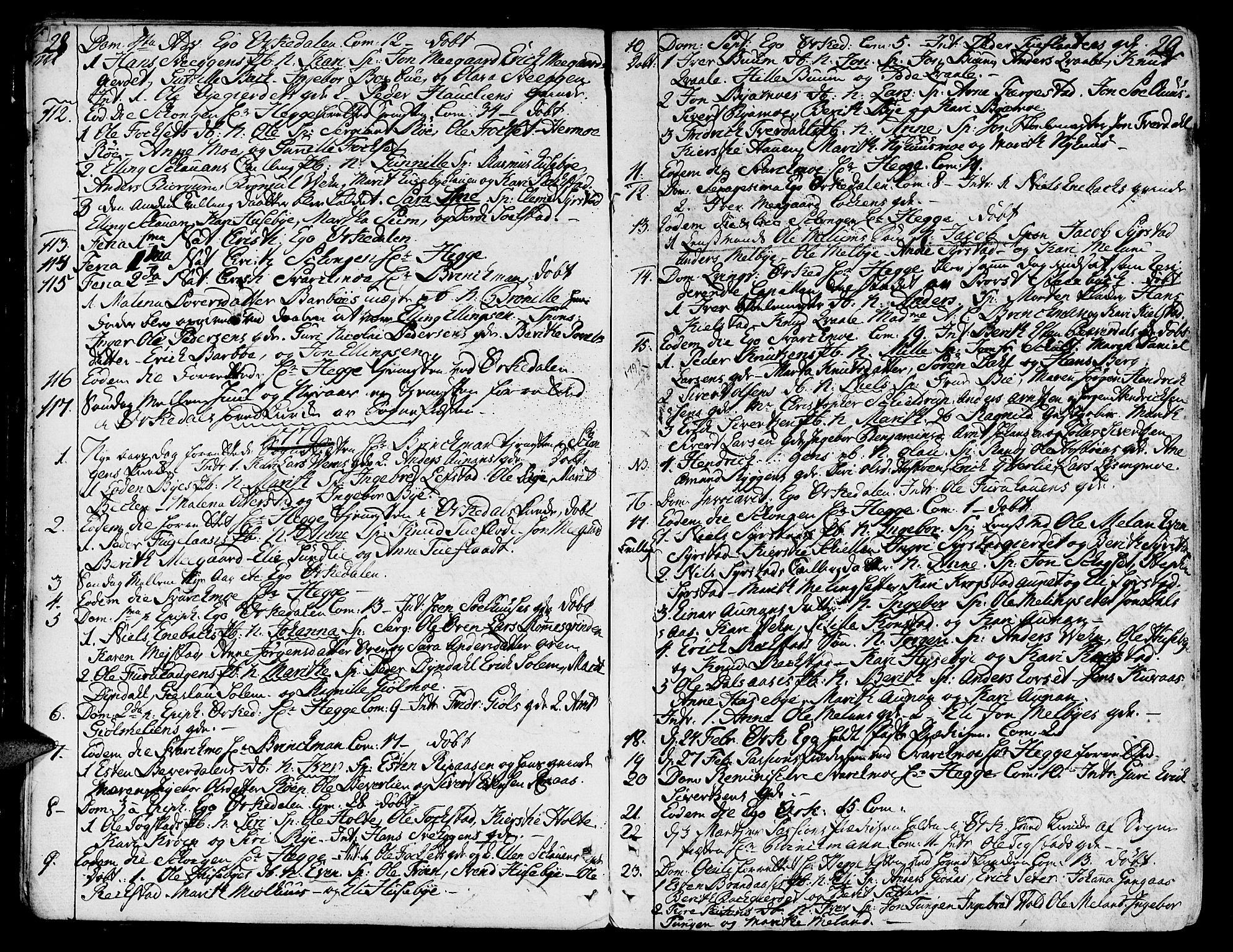 SAT, Ministerialprotokoller, klokkerbøker og fødselsregistre - Sør-Trøndelag, 668/L0802: Ministerialbok nr. 668A02, 1776-1799, s. 28-29