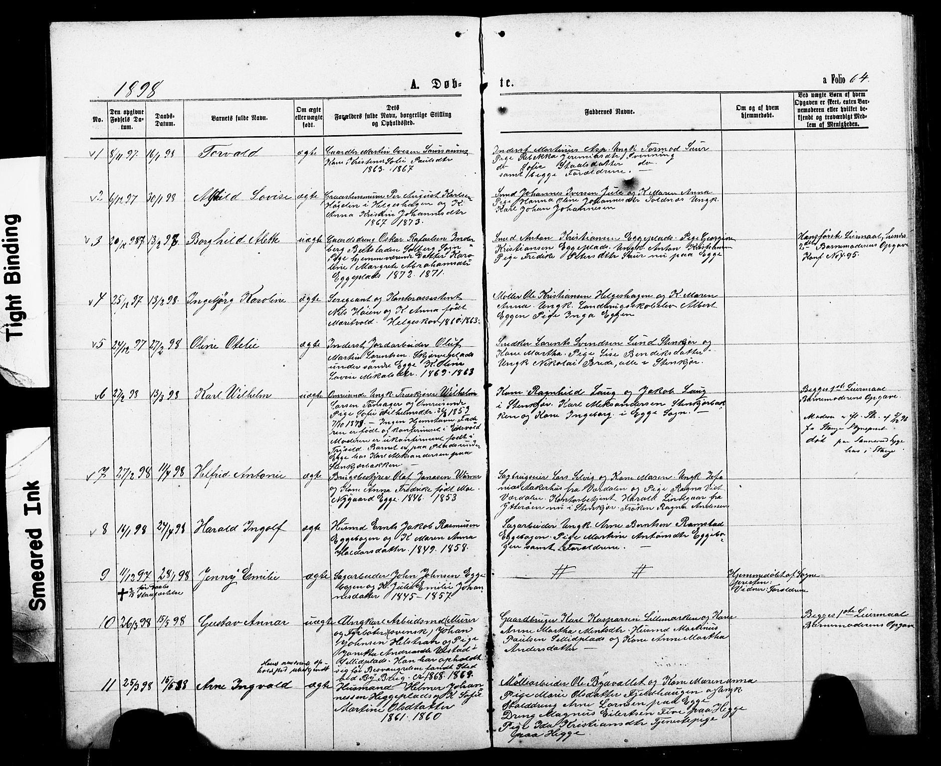 SAT, Ministerialprotokoller, klokkerbøker og fødselsregistre - Nord-Trøndelag, 740/L0380: Klokkerbok nr. 740C01, 1868-1902, s. 64