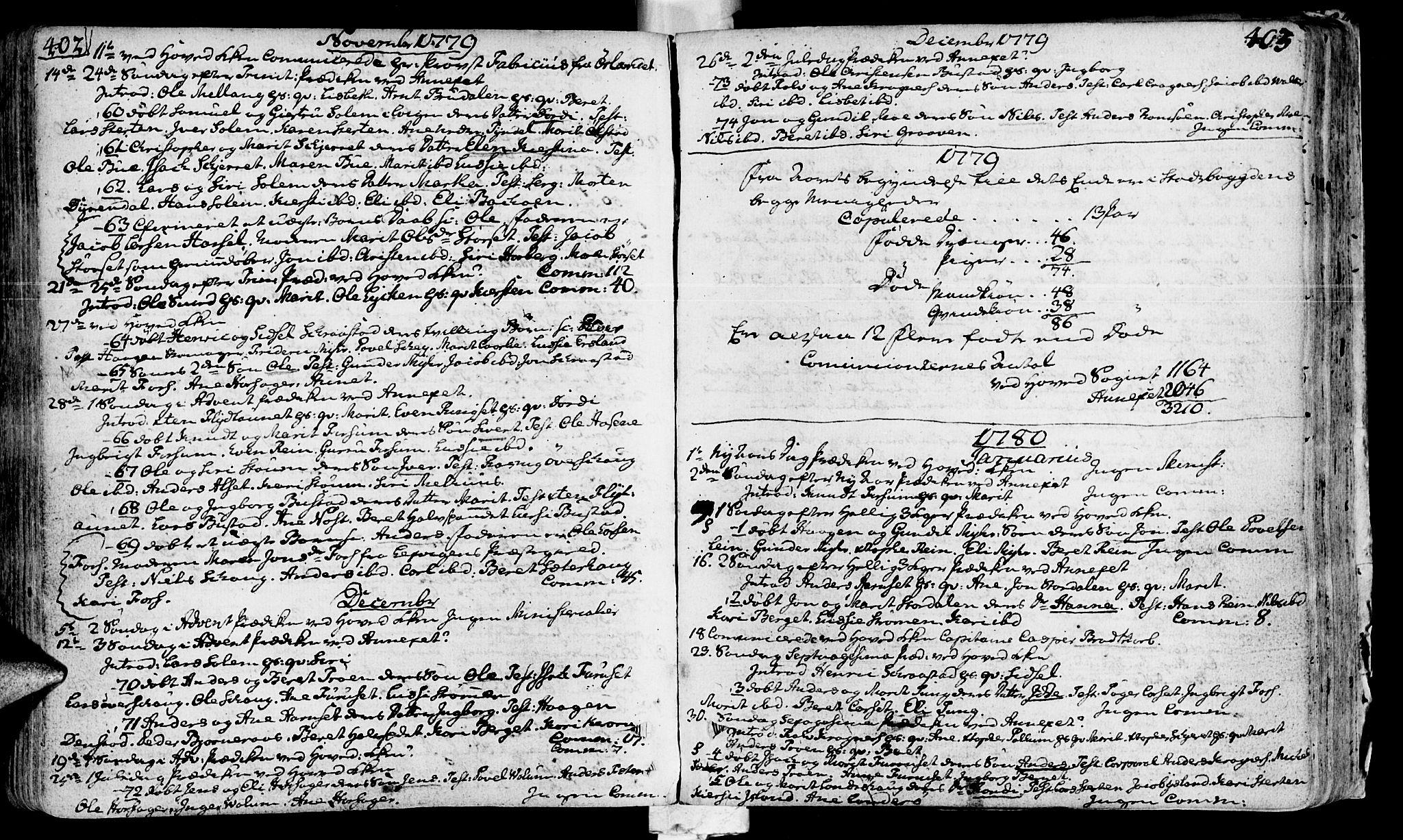SAT, Ministerialprotokoller, klokkerbøker og fødselsregistre - Sør-Trøndelag, 646/L0605: Ministerialbok nr. 646A03, 1751-1790, s. 402-403