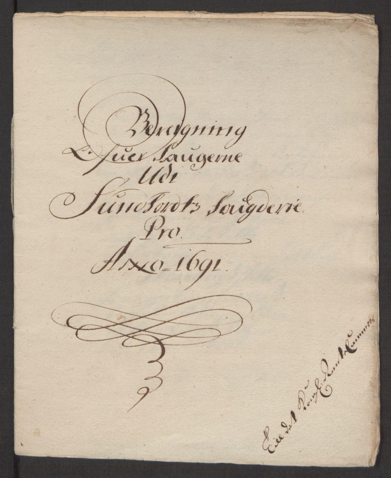 RA, Rentekammeret inntil 1814, Reviderte regnskaper, Fogderegnskap, R48/L2973: Fogderegnskap Sunnhordland og Hardanger, 1691-1692, s. 15