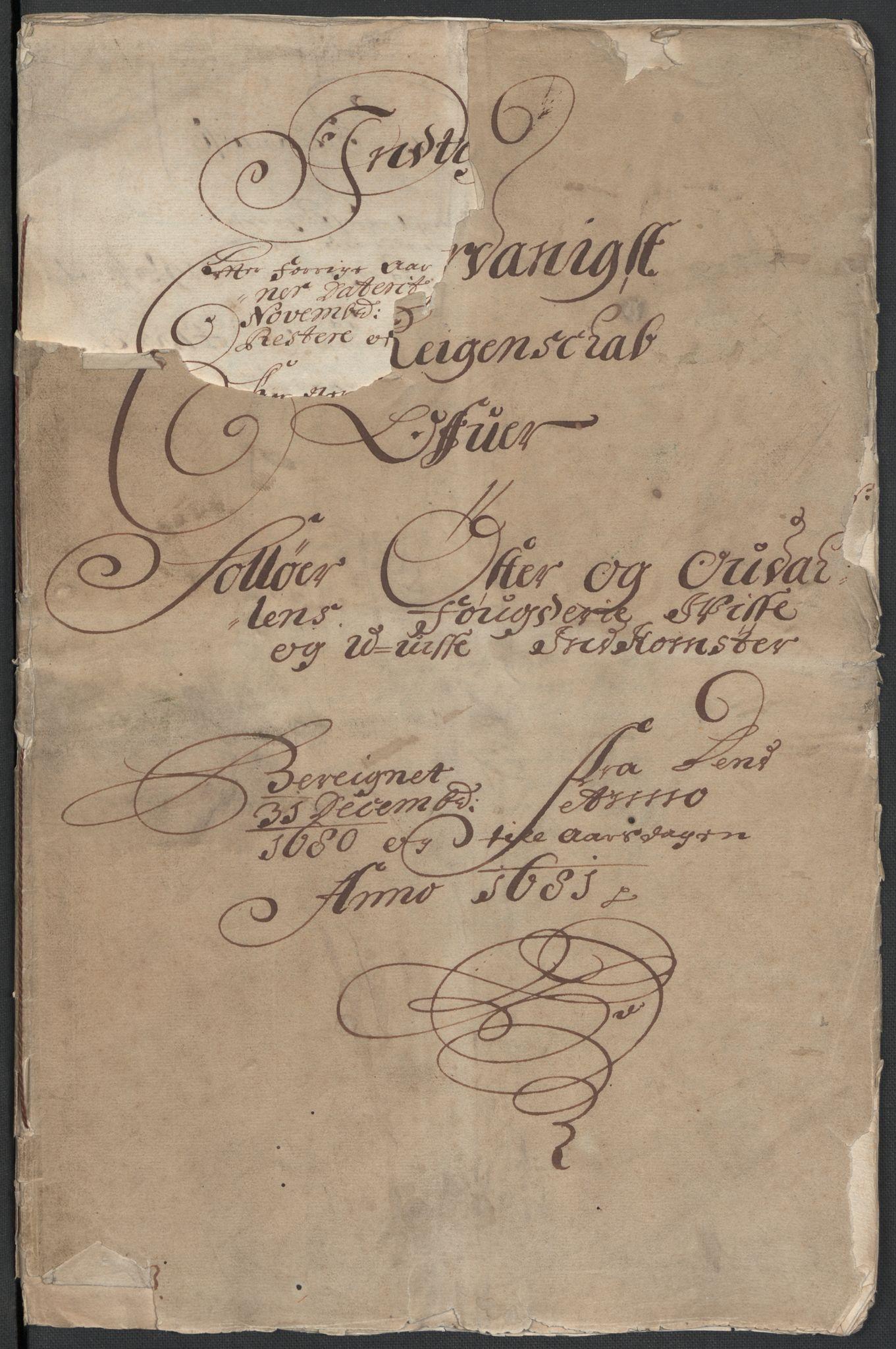 RA, Rentekammeret inntil 1814, Reviderte regnskaper, Fogderegnskap, R13/L0818: Fogderegnskap Solør, Odal og Østerdal, 1681, s. 2