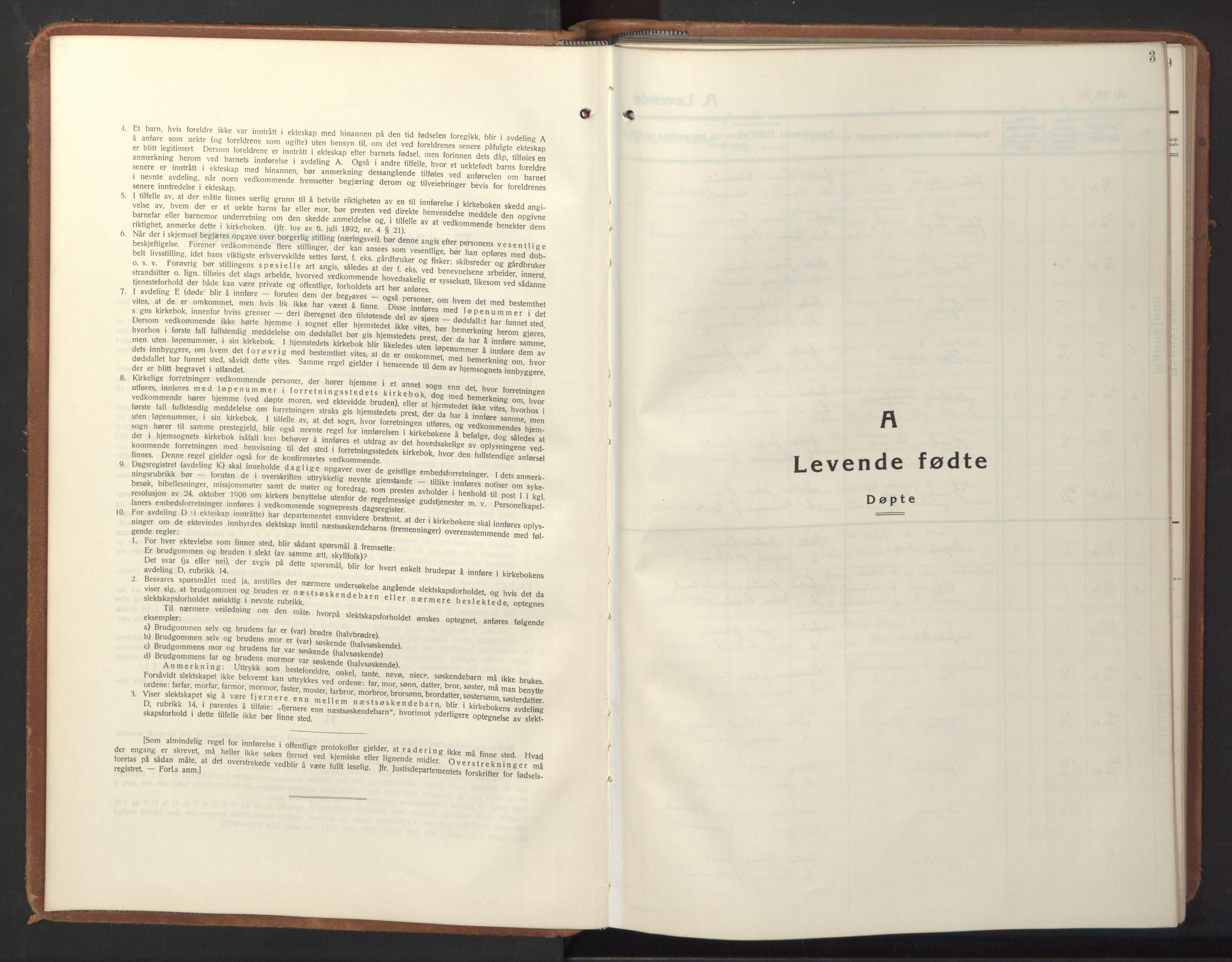 SAT, Ministerialprotokoller, klokkerbøker og fødselsregistre - Sør-Trøndelag, 640/L0590: Klokkerbok nr. 640C07, 1935-1948, s. 3
