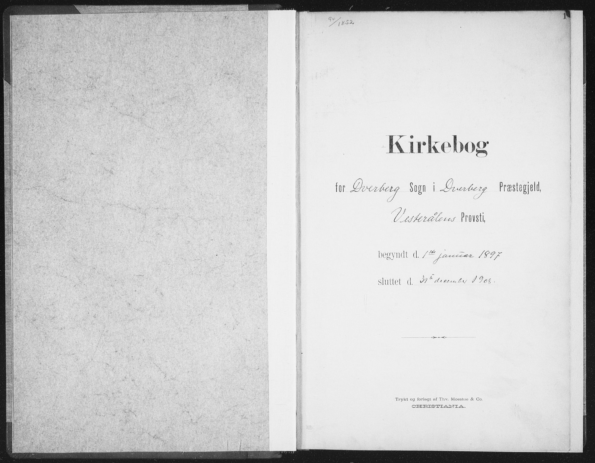 SAT, Ministerialprotokoller, klokkerbøker og fødselsregistre - Nordland, 897/L1400: Ministerialbok nr. 897A07, 1897-1908, s. 1