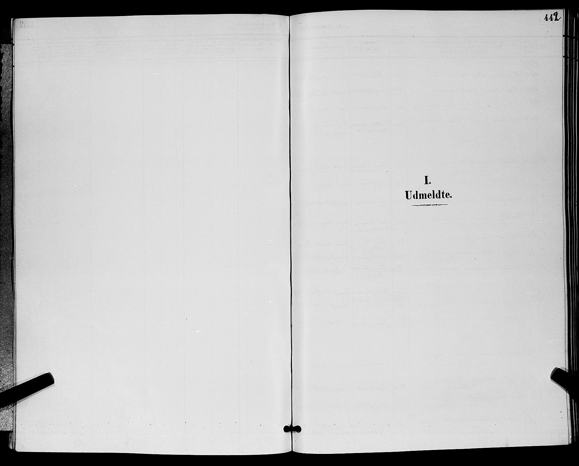 SAKO, Bamble kirkebøker, G/Ga/L0009: Klokkerbok nr. I 9, 1888-1900, s. 442