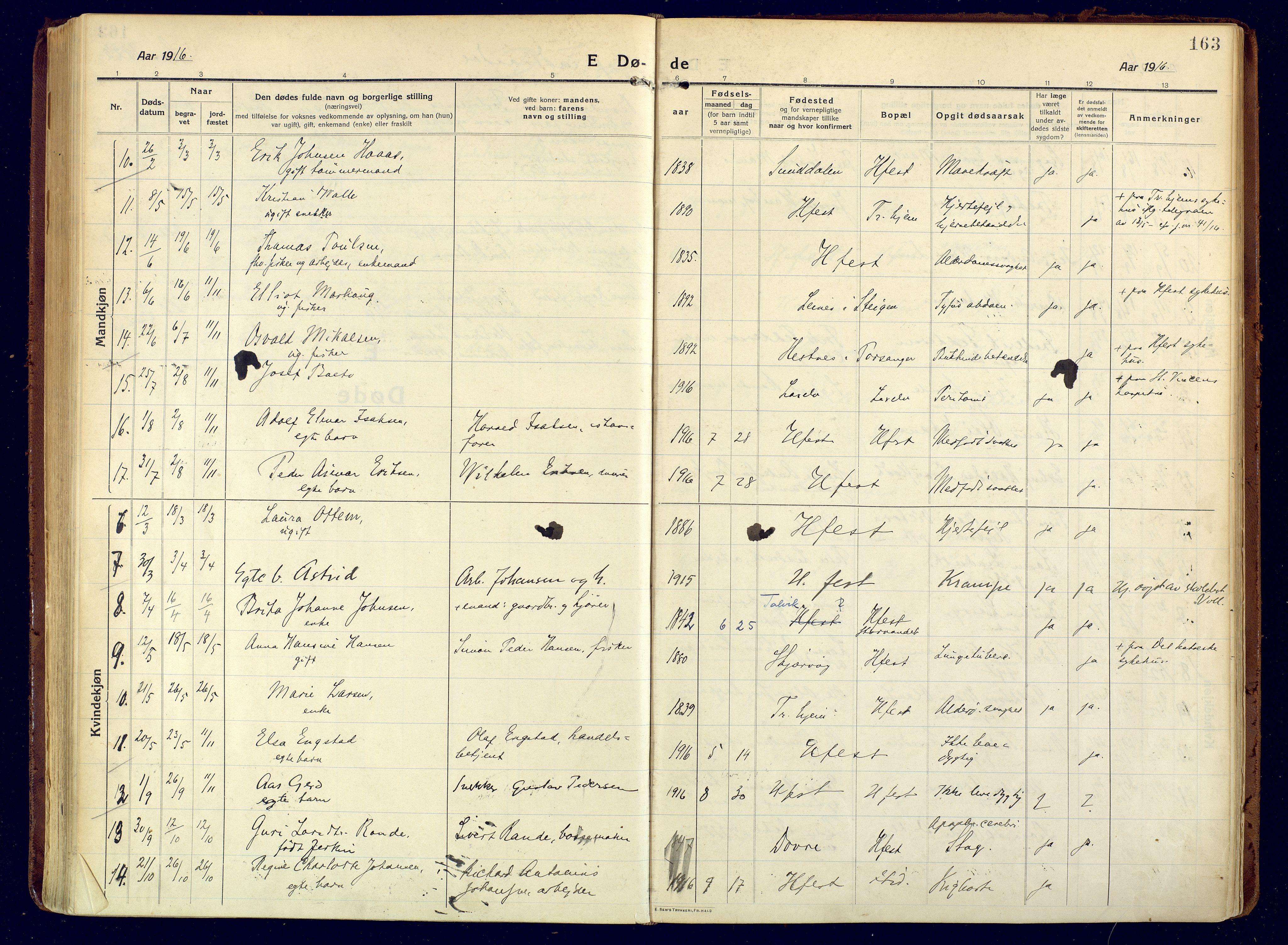 SATØ, Hammerfest sokneprestembete, Ministerialbok nr. 15, 1916-1923, s. 163