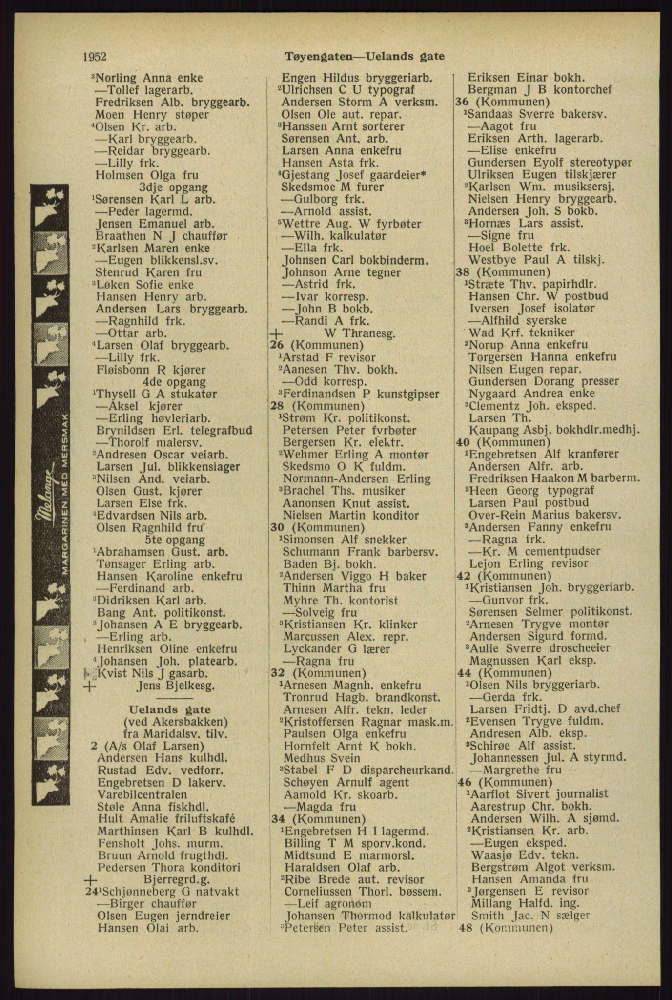 RA, Oslo adressebok (publikasjon)*, 1929, s. 1952