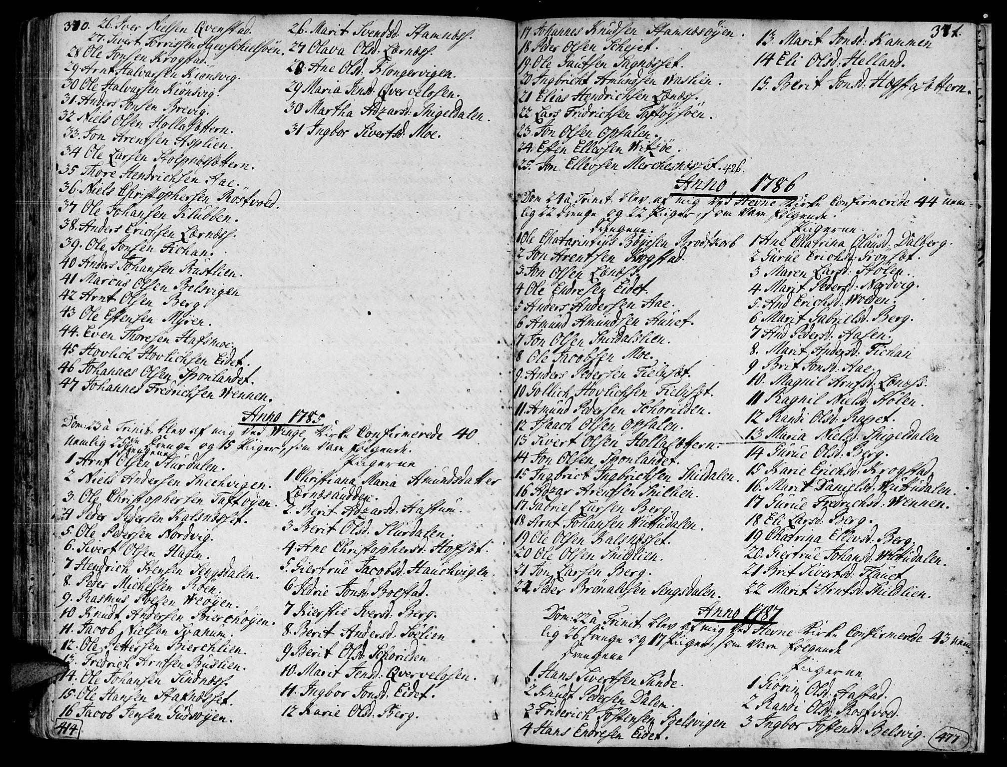 SAT, Ministerialprotokoller, klokkerbøker og fødselsregistre - Sør-Trøndelag, 630/L0489: Ministerialbok nr. 630A02, 1757-1794, s. 370-371