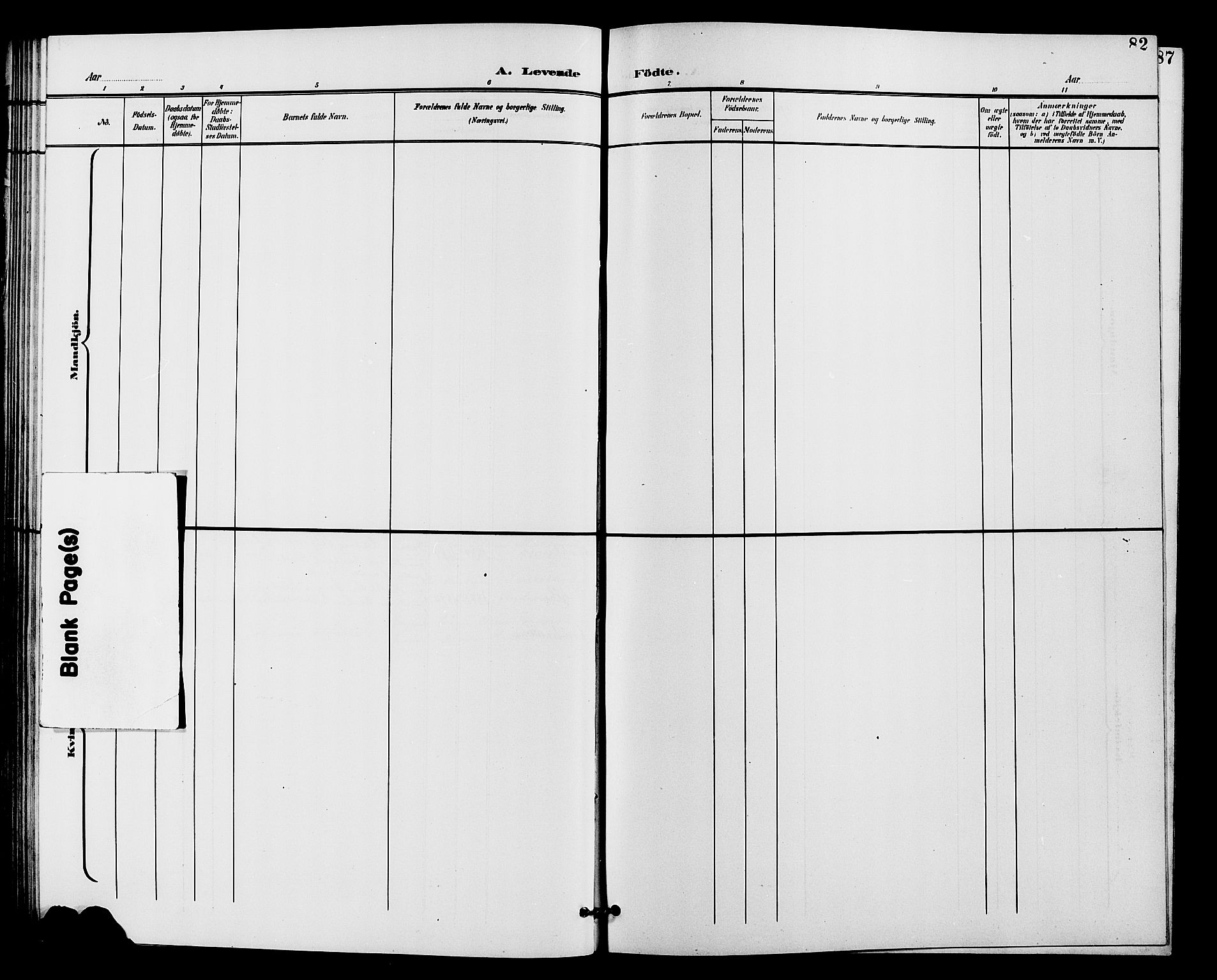 SAH, Vardal prestekontor, H/Ha/Hab/L0011: Klokkerbok nr. 11, 1899-1913, s. 82