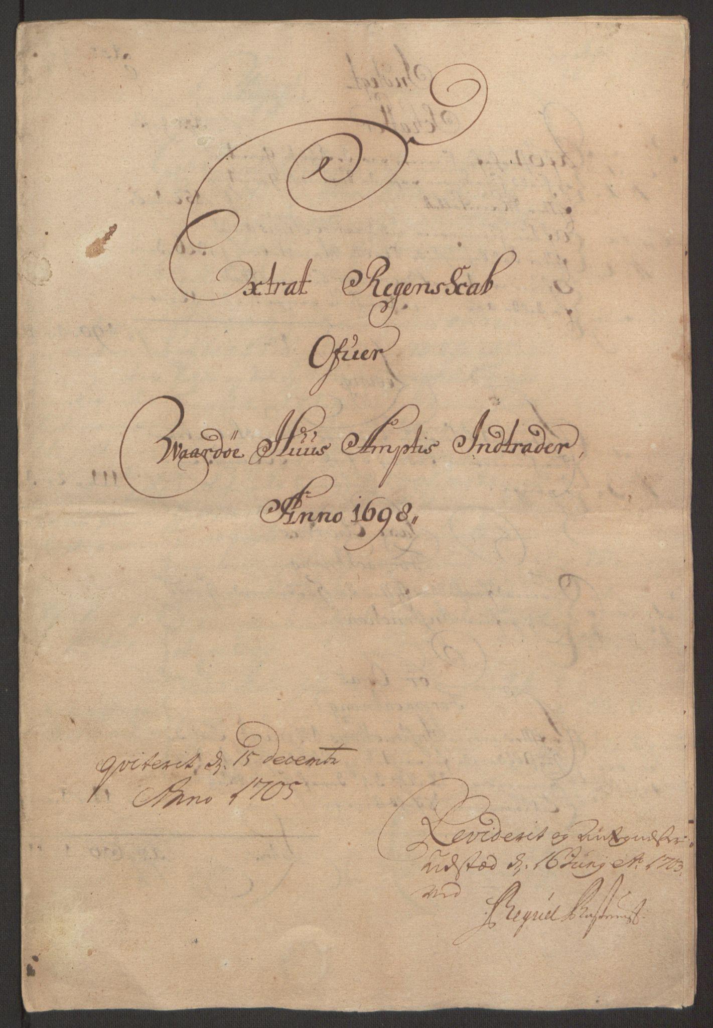RA, Rentekammeret inntil 1814, Reviderte regnskaper, Fogderegnskap, R69/L4851: Fogderegnskap Finnmark/Vardøhus, 1691-1700, s. 346
