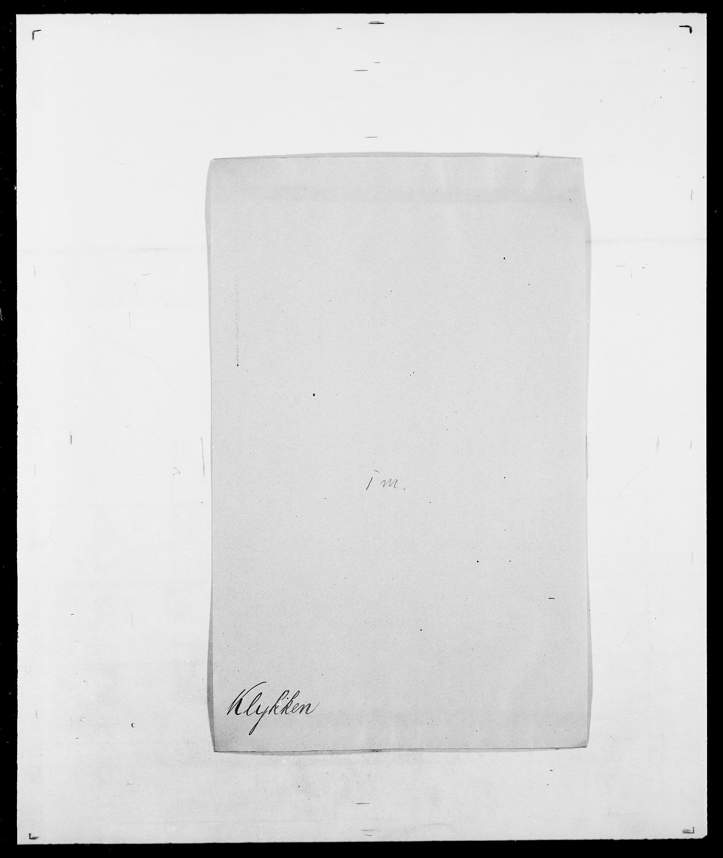 SAO, Delgobe, Charles Antoine - samling, D/Da/L0021: Klagenberg - Kristoft, s. 171