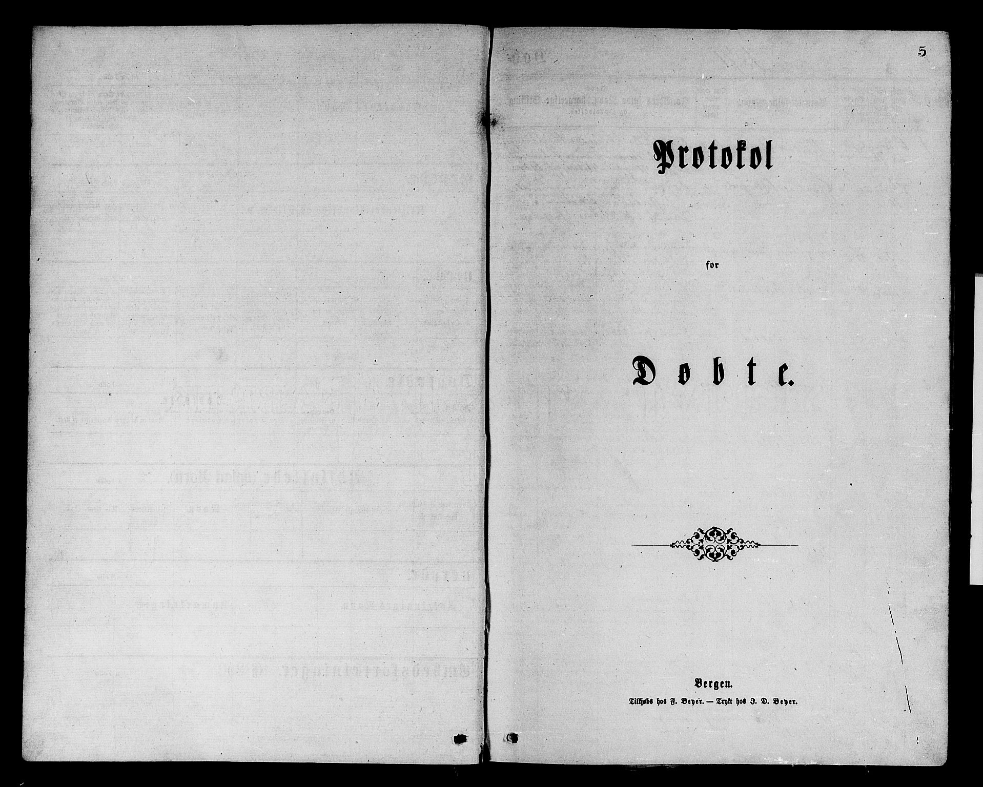 SAST, Avaldsnes sokneprestkontor, H/Ha/Hab/L0005: Klokkerbok nr. B 5, 1871-1885, s. 5