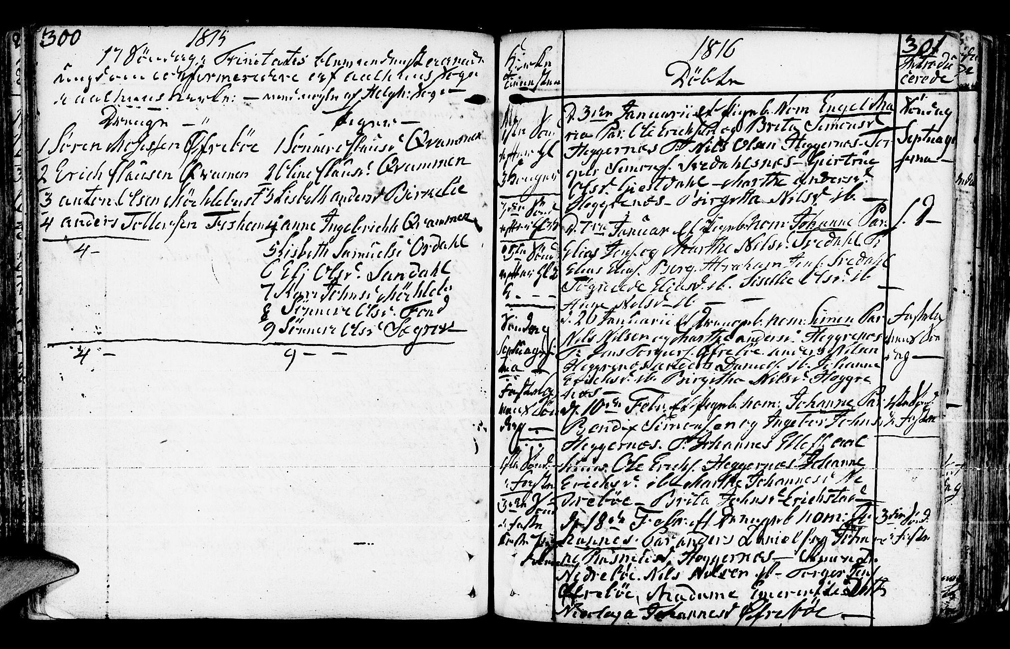 SAB, Jølster Sokneprestembete, Ministerialbok nr. A 5, 1790-1821, s. 300-301