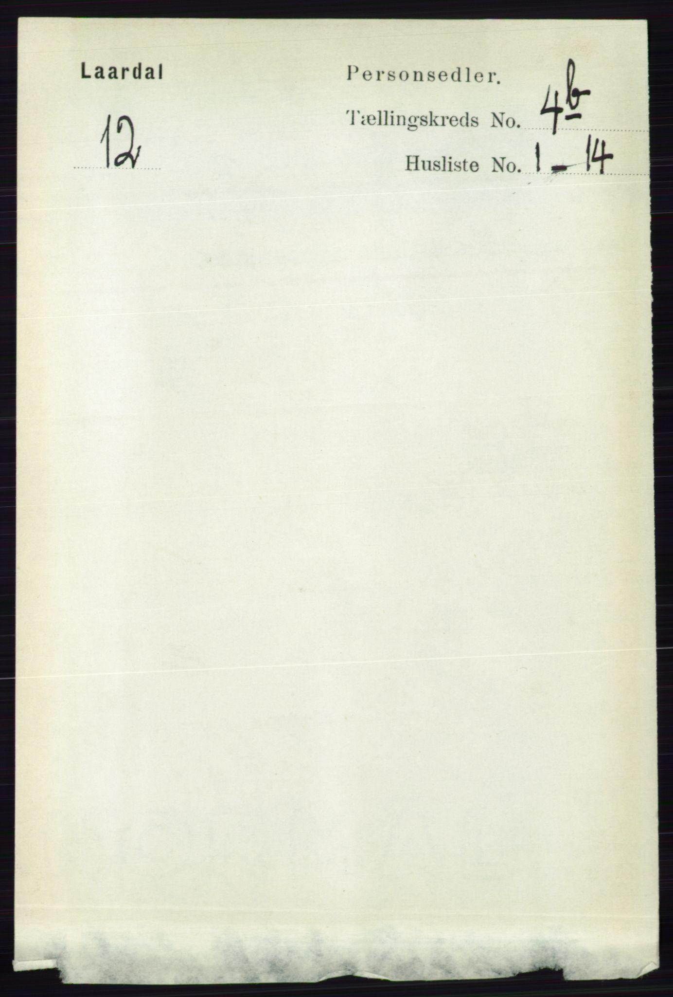 RA, Folketelling 1891 for 0833 Lårdal herred, 1891, s. 1173