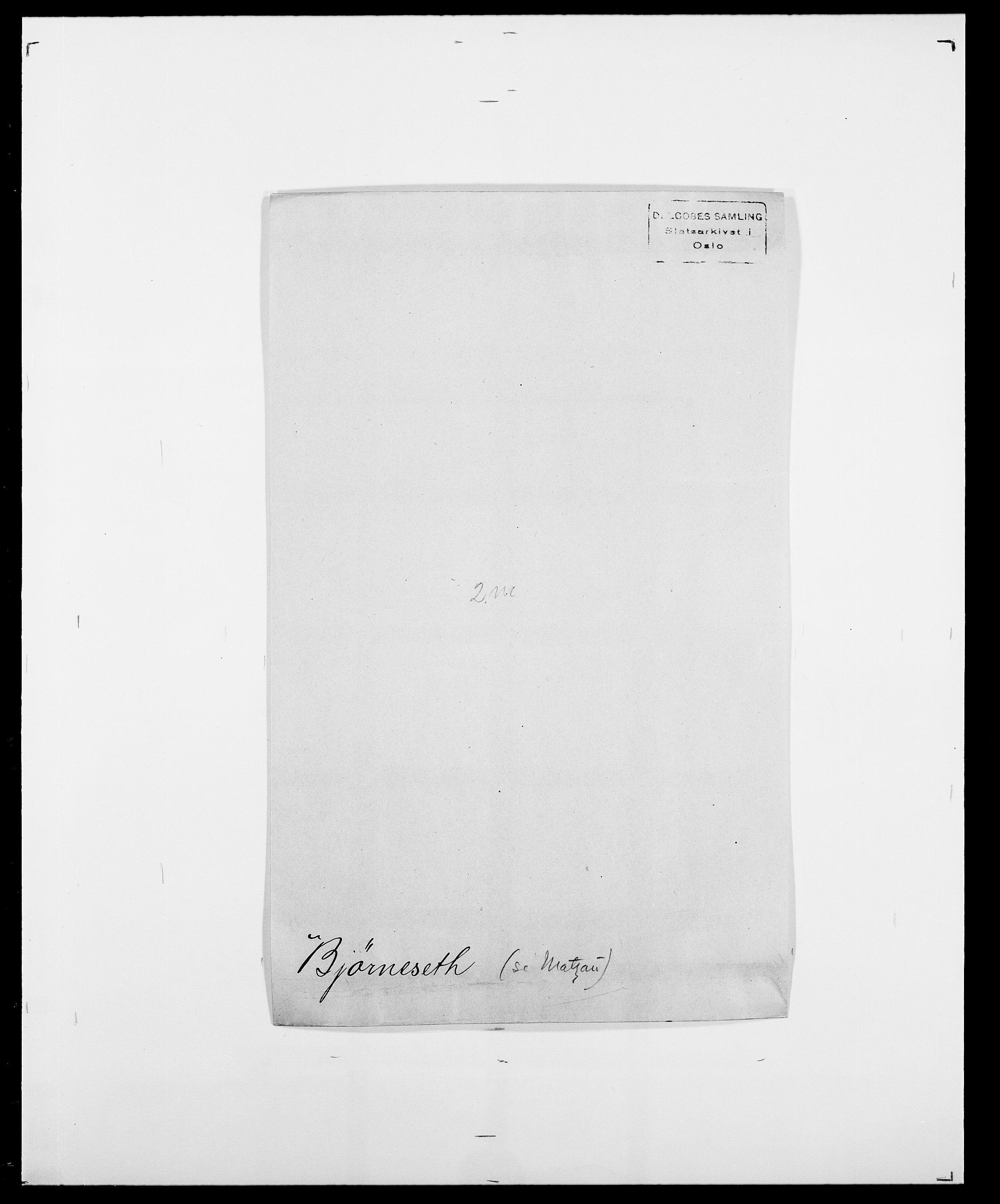 SAO, Delgobe, Charles Antoine - samling, D/Da/L0004: Bergendahl - Blære, s. 461