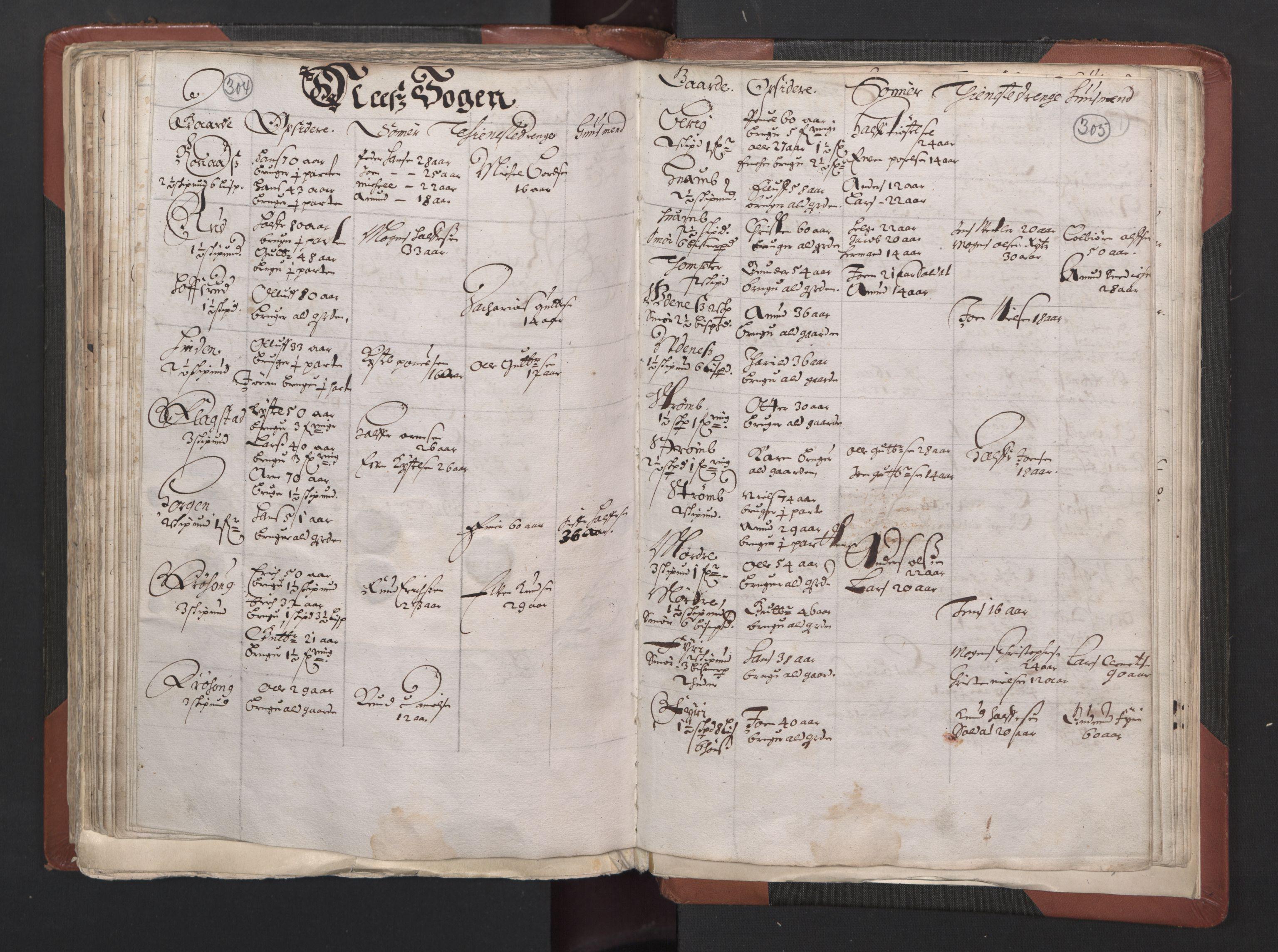 RA, Fogdenes og sorenskrivernes manntall 1664-1666, nr. 2: Aker fogderi, Follo fogderi, Nedre Romerike fogderi og Øvre Romerike fogderi, 1664, s. 304-305