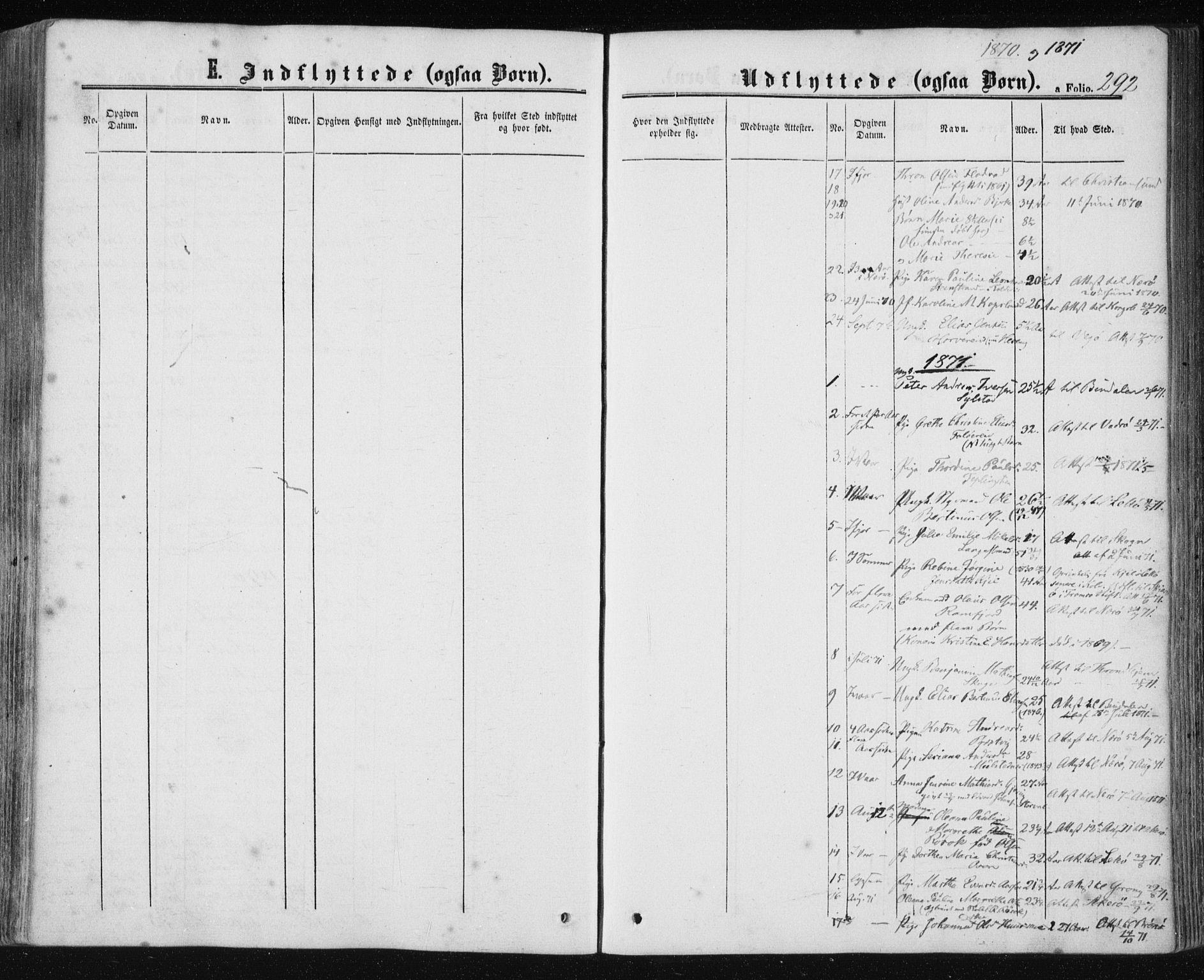 SAT, Ministerialprotokoller, klokkerbøker og fødselsregistre - Nord-Trøndelag, 780/L0641: Ministerialbok nr. 780A06, 1857-1874, s. 292