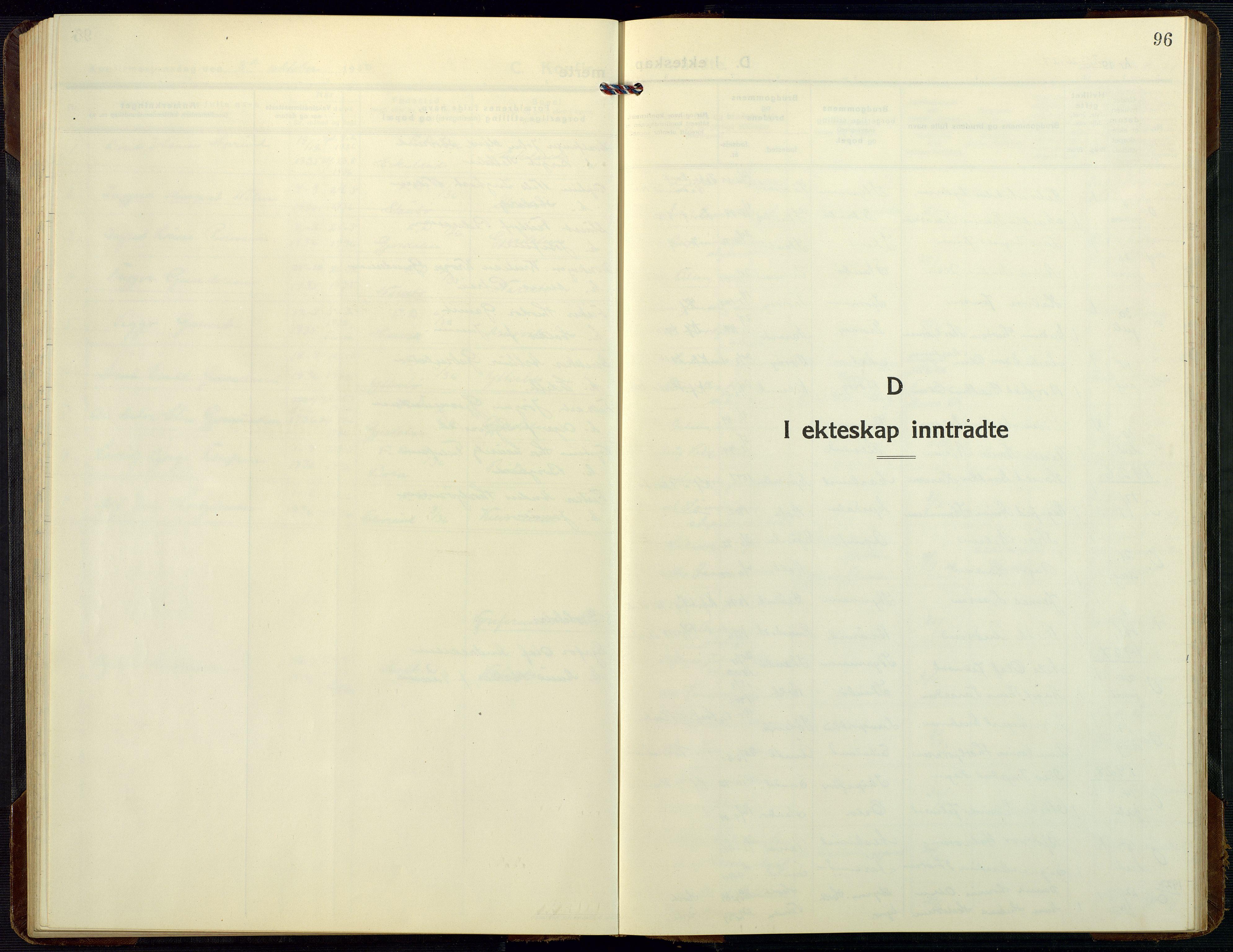 SAK, Dypvåg sokneprestkontor, F/Fb/Fbb/L0006: Klokkerbok nr. B 6, 1925-1954, s. 96
