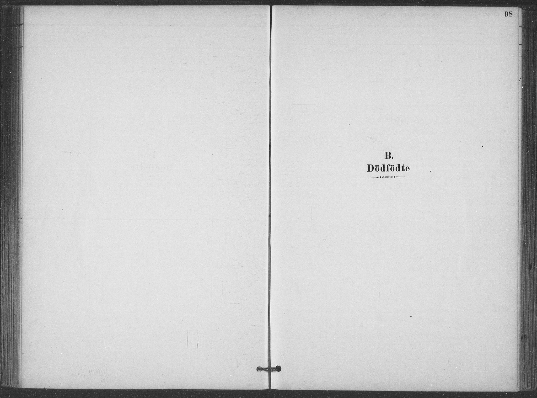 SAKO, Hjartdal kirkebøker, F/Fa/L0010: Ministerialbok nr. I 10, 1880-1929, s. 98