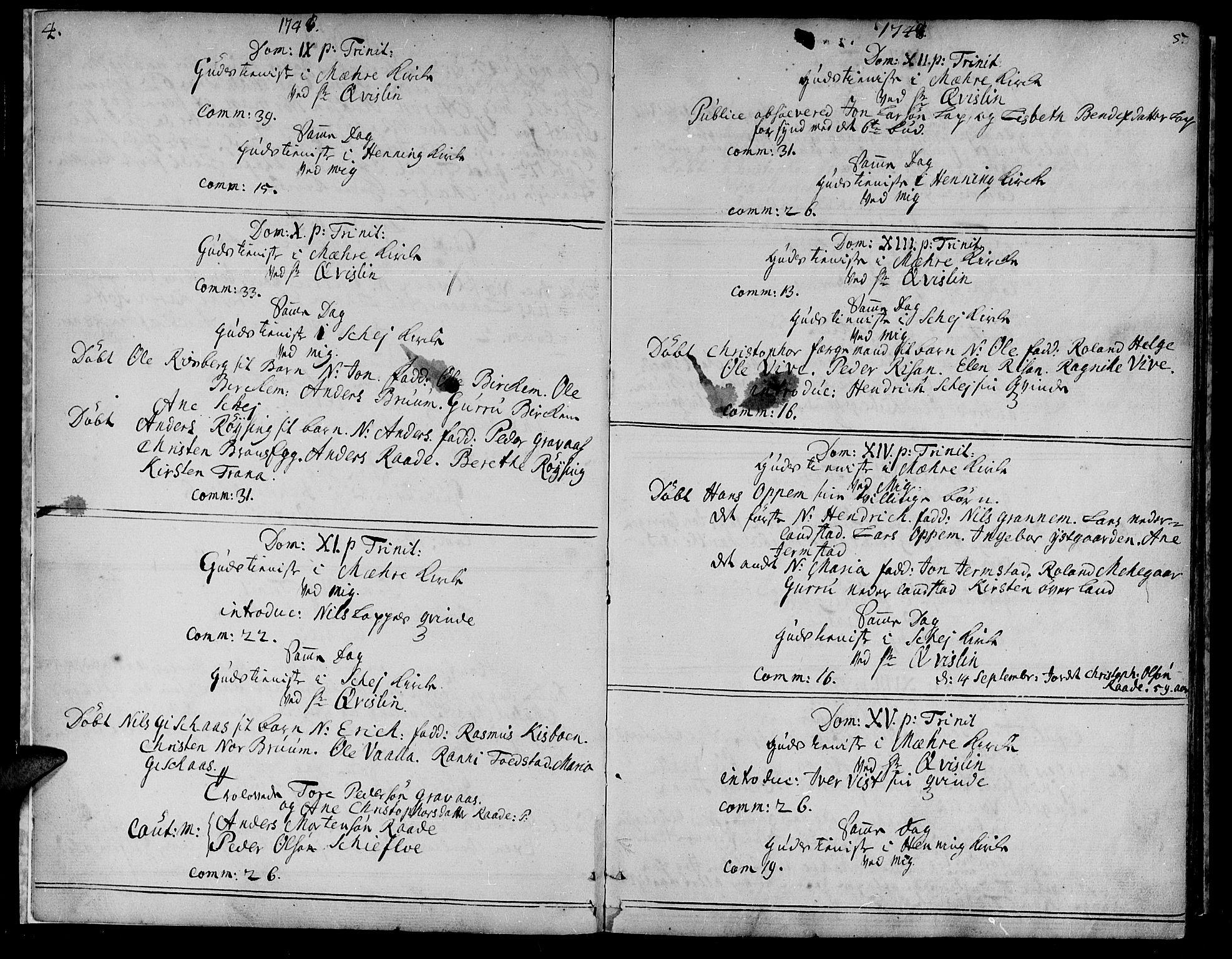 SAT, Ministerialprotokoller, klokkerbøker og fødselsregistre - Nord-Trøndelag, 735/L0330: Ministerialbok nr. 735A01, 1740-1766, s. 4-5