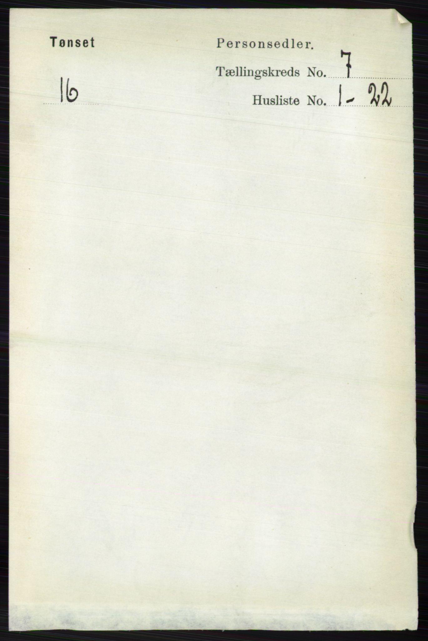 RA, Folketelling 1891 for 0437 Tynset herred, 1891, s. 1721