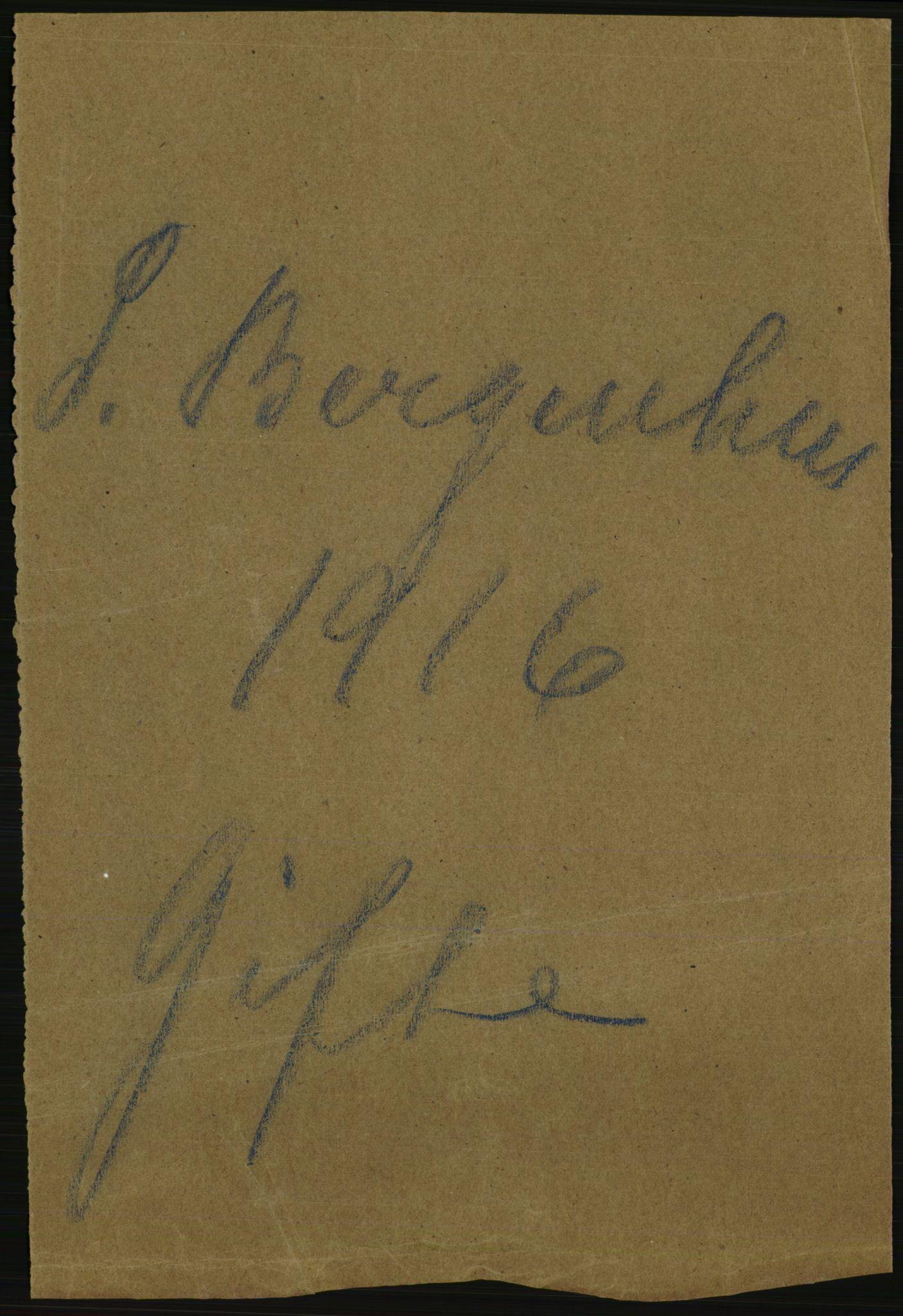 RA, Statistisk sentralbyrå, Sosiodemografiske emner, Befolkning, D/Df/Dfb/Dfbf/L0035: S. Bergenhus amt: Gifte, dødfødte. Bygder., 1916