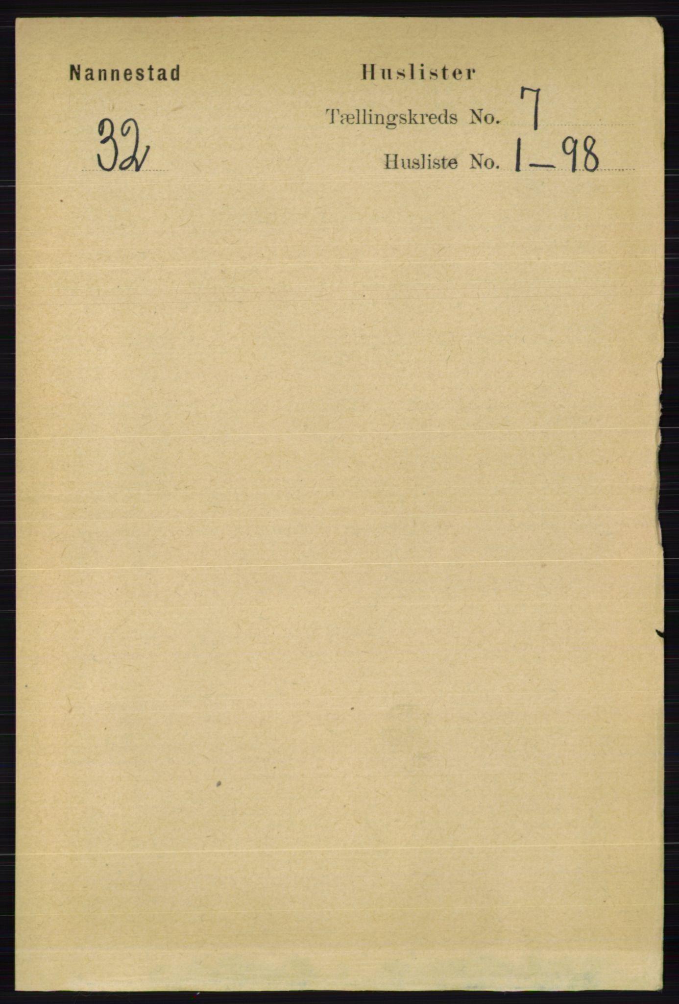 RA, Folketelling 1891 for 0238 Nannestad herred, 1891, s. 3640
