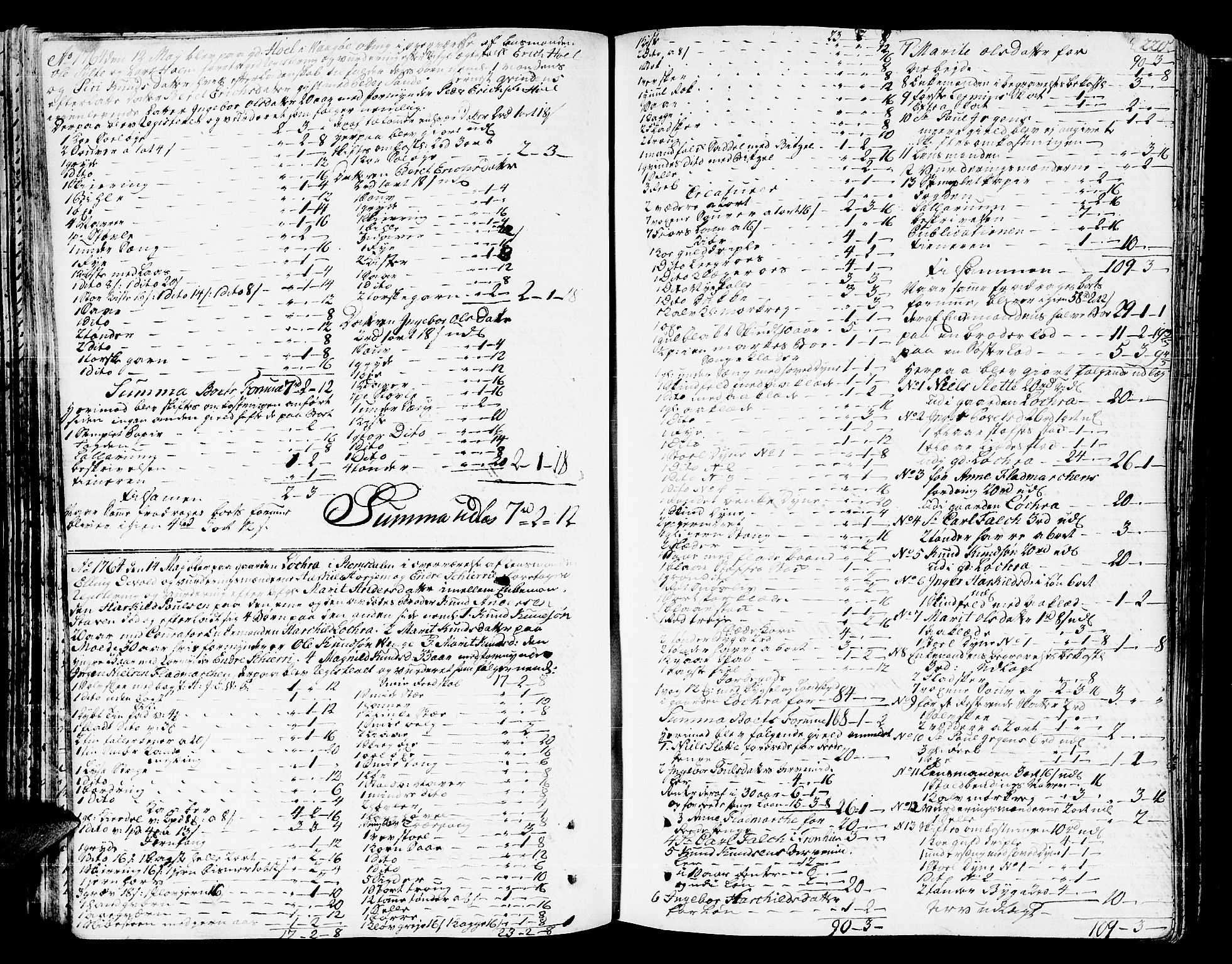 SAT, Romsdal sorenskriveri, 3/3A/L0009: Skifteprotokoll, 1761-1773, s. 219b-220a