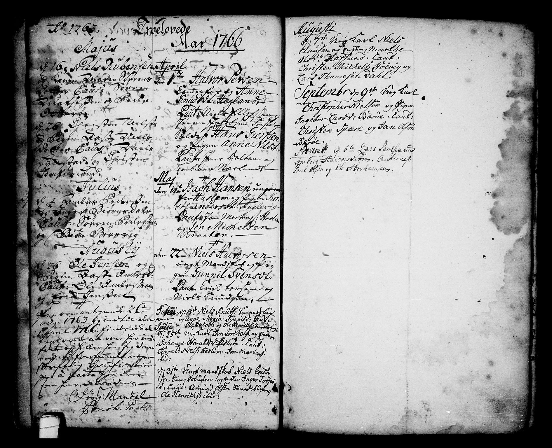 SAKO, Sannidal kirkebøker, F/Fa/L0001: Ministerialbok nr. 1, 1702-1766, s. 30-31