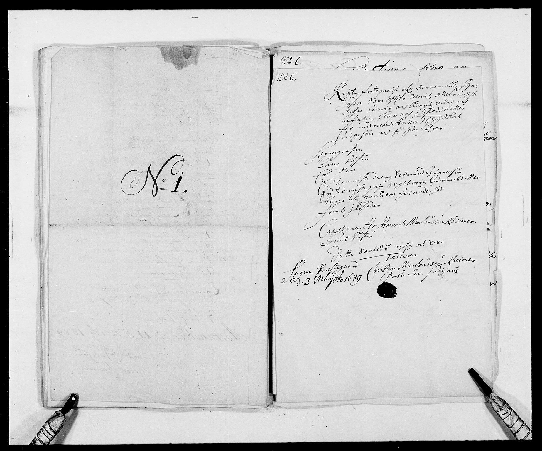 RA, Rentekammeret inntil 1814, Reviderte regnskaper, Fogderegnskap, R42/L2543: Mandal fogderi, 1688-1691, s. 153