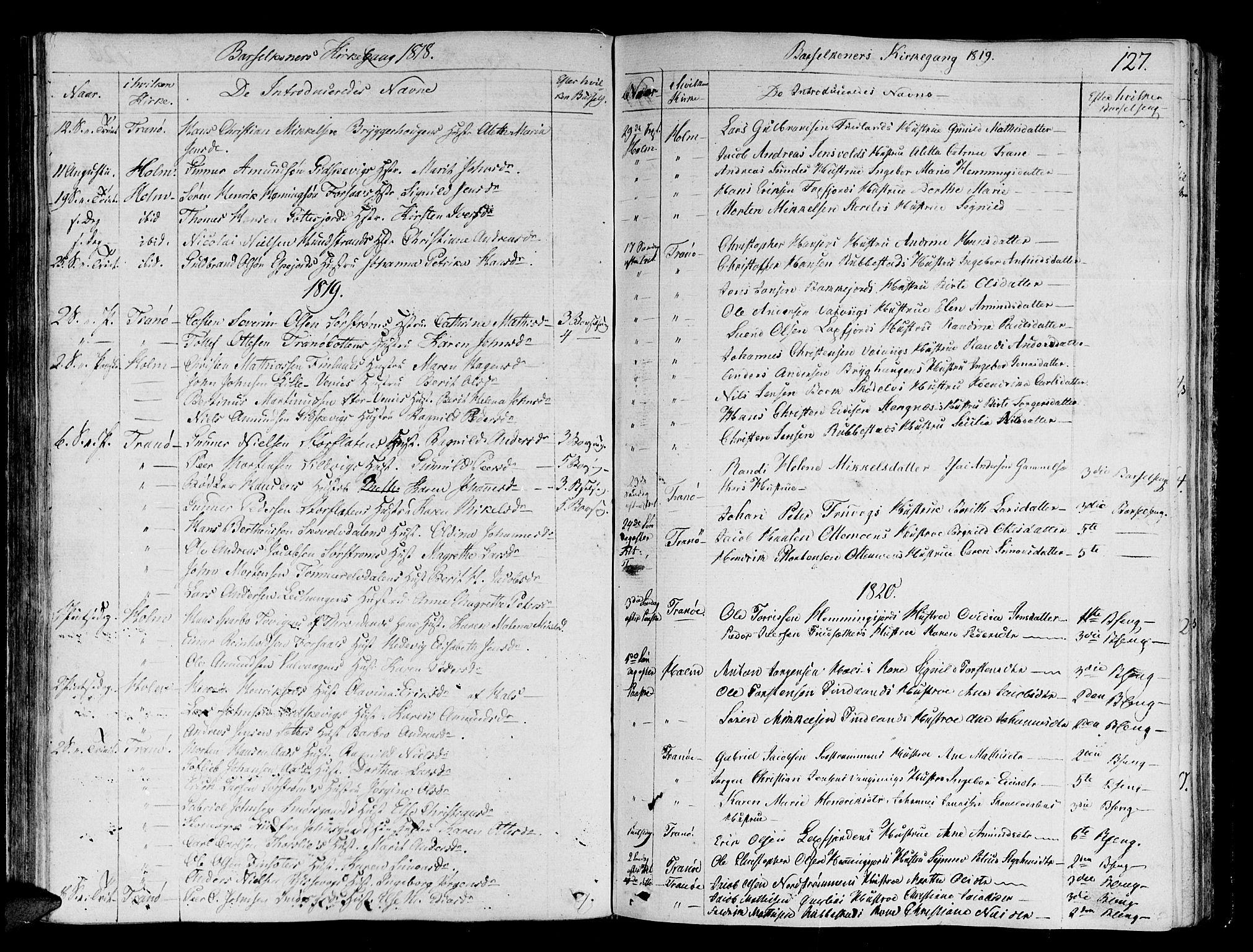SATØ, Tranøy sokneprestkontor, I/Ia/Iaa/L0003kirke: Ministerialbok nr. 3, 1807-1820, s. 127
