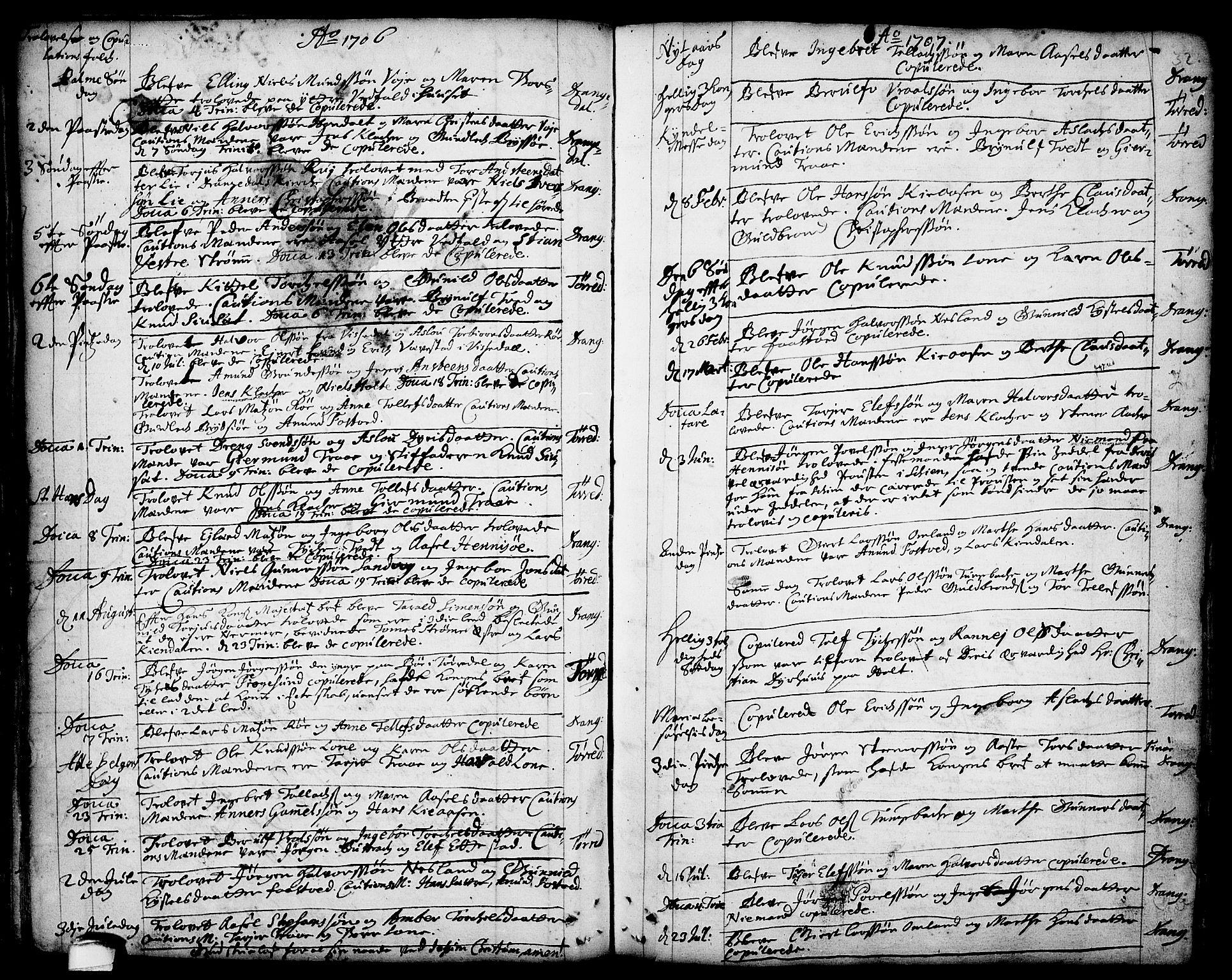 SAKO, Drangedal kirkebøker, F/Fa/L0001: Ministerialbok nr. 1, 1697-1767, s. 32