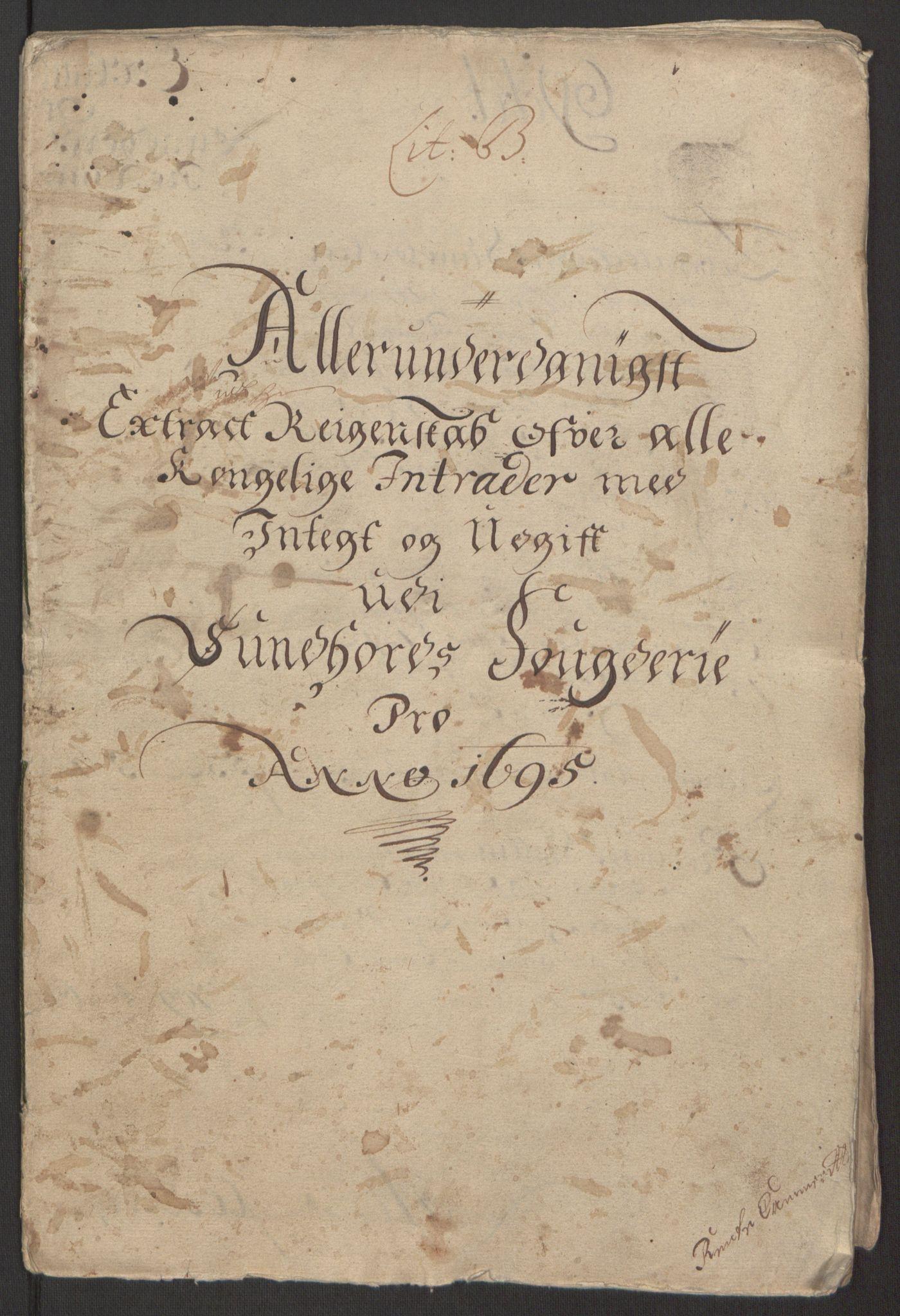 RA, Rentekammeret inntil 1814, Reviderte regnskaper, Fogderegnskap, R48/L2976: Fogderegnskap Sunnhordland og Hardanger, 1695-1696, s. 4