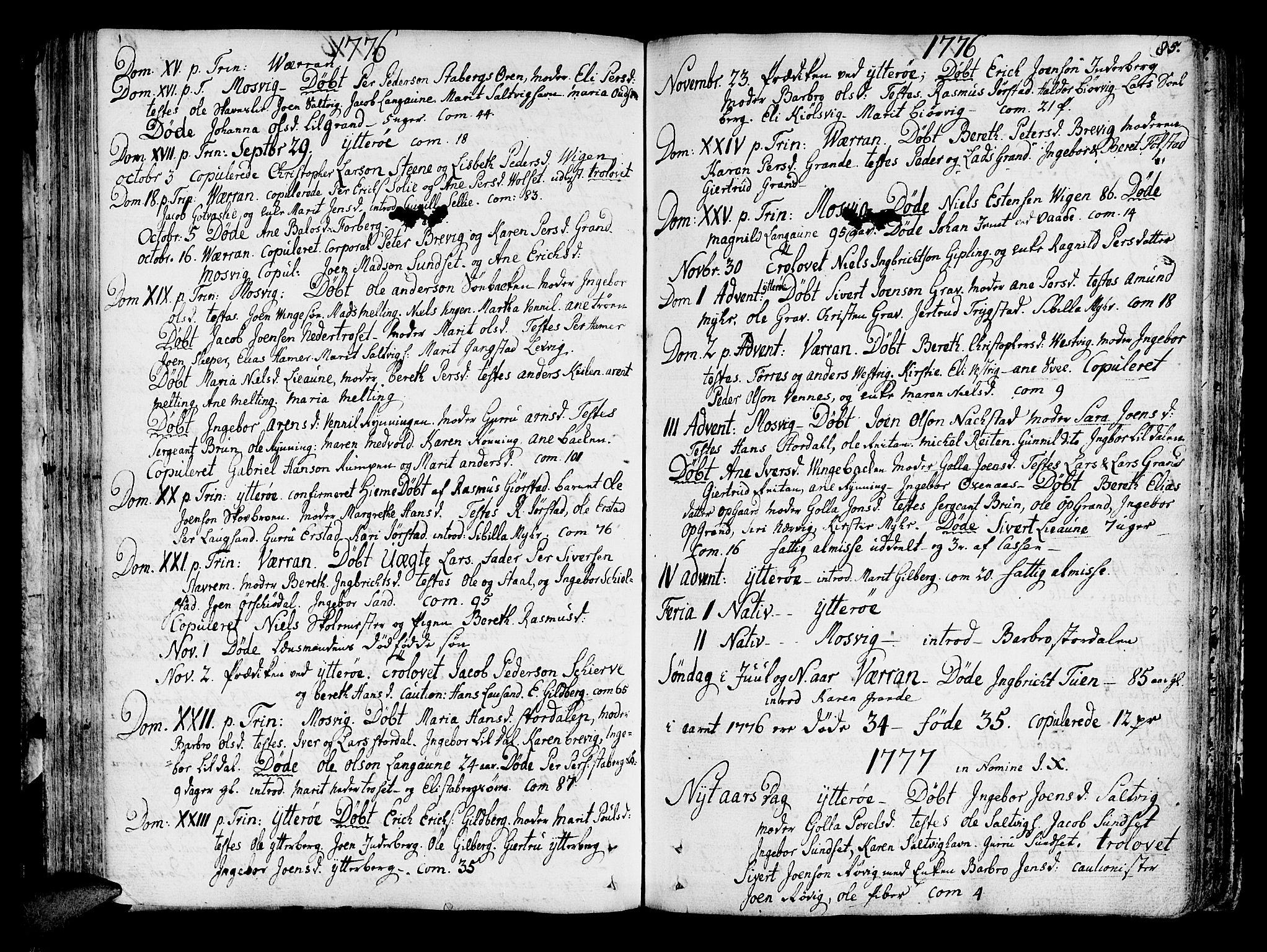 SAT, Ministerialprotokoller, klokkerbøker og fødselsregistre - Nord-Trøndelag, 722/L0216: Ministerialbok nr. 722A03, 1756-1816, s. 85