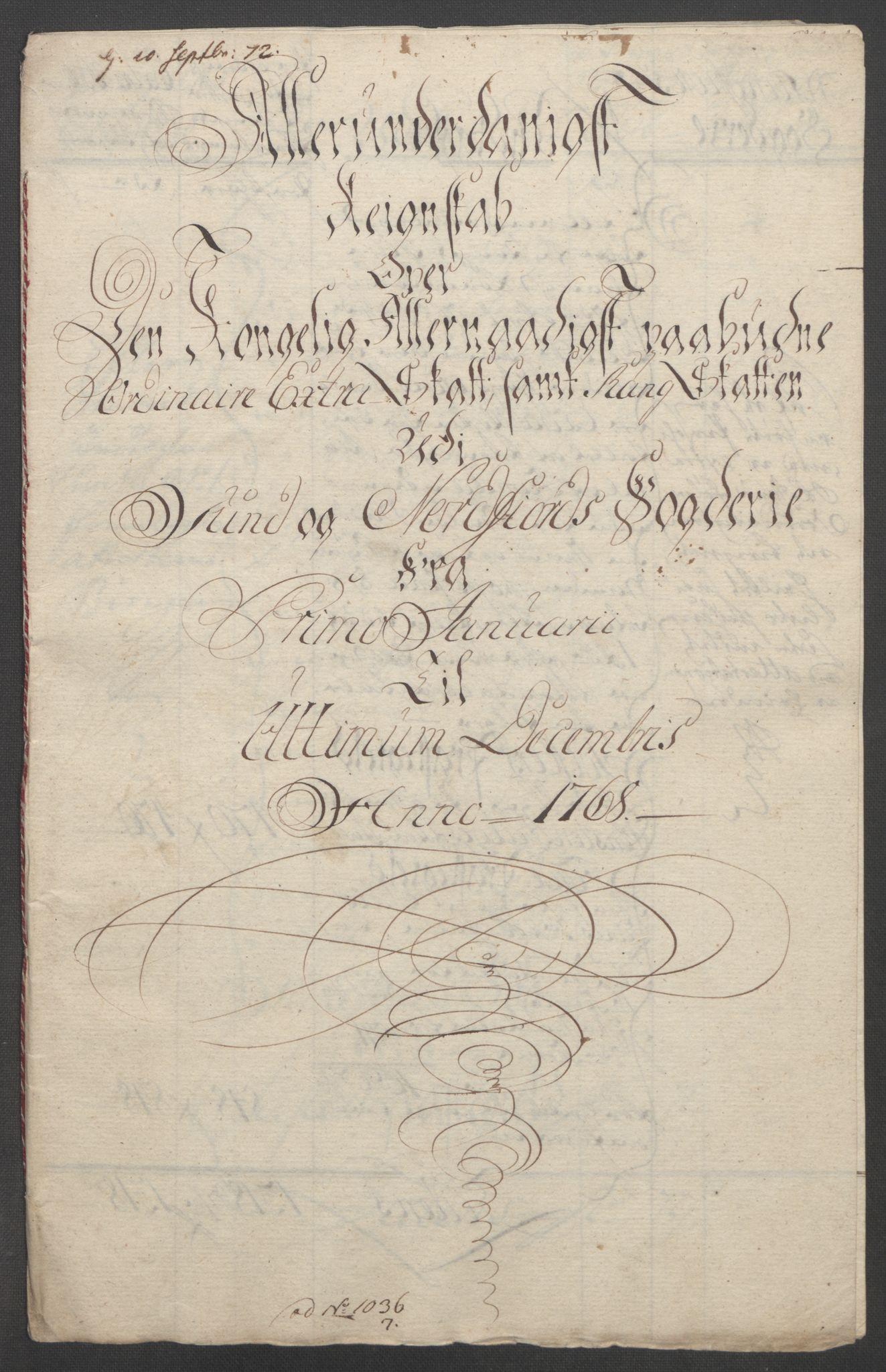 RA, Rentekammeret inntil 1814, Reviderte regnskaper, Fogderegnskap, R53/L3550: Ekstraskatten Sunn- og Nordfjord, 1762-1771, s. 198