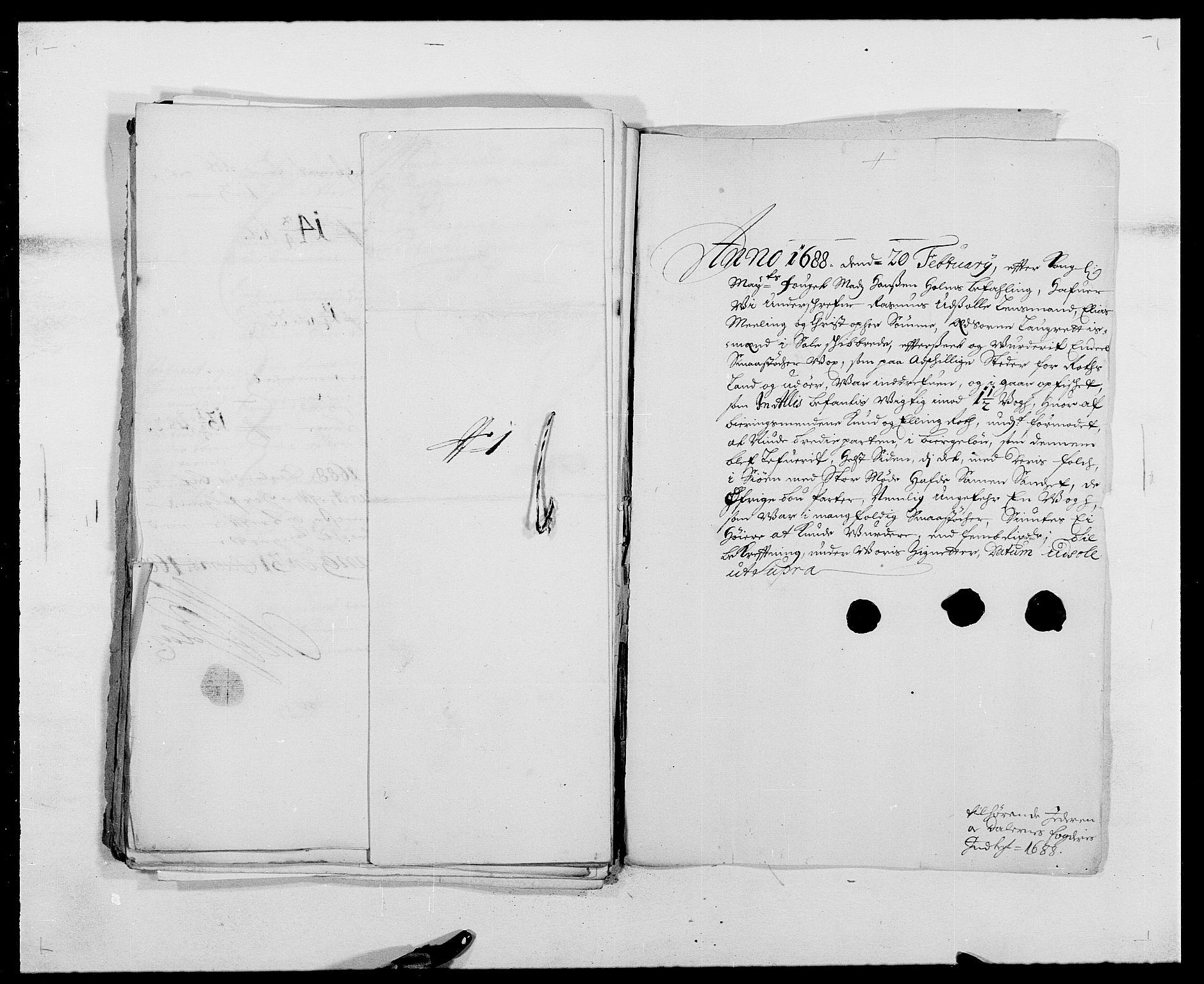 RA, Rentekammeret inntil 1814, Reviderte regnskaper, Fogderegnskap, R46/L2726: Fogderegnskap Jæren og Dalane, 1686-1689, s. 283