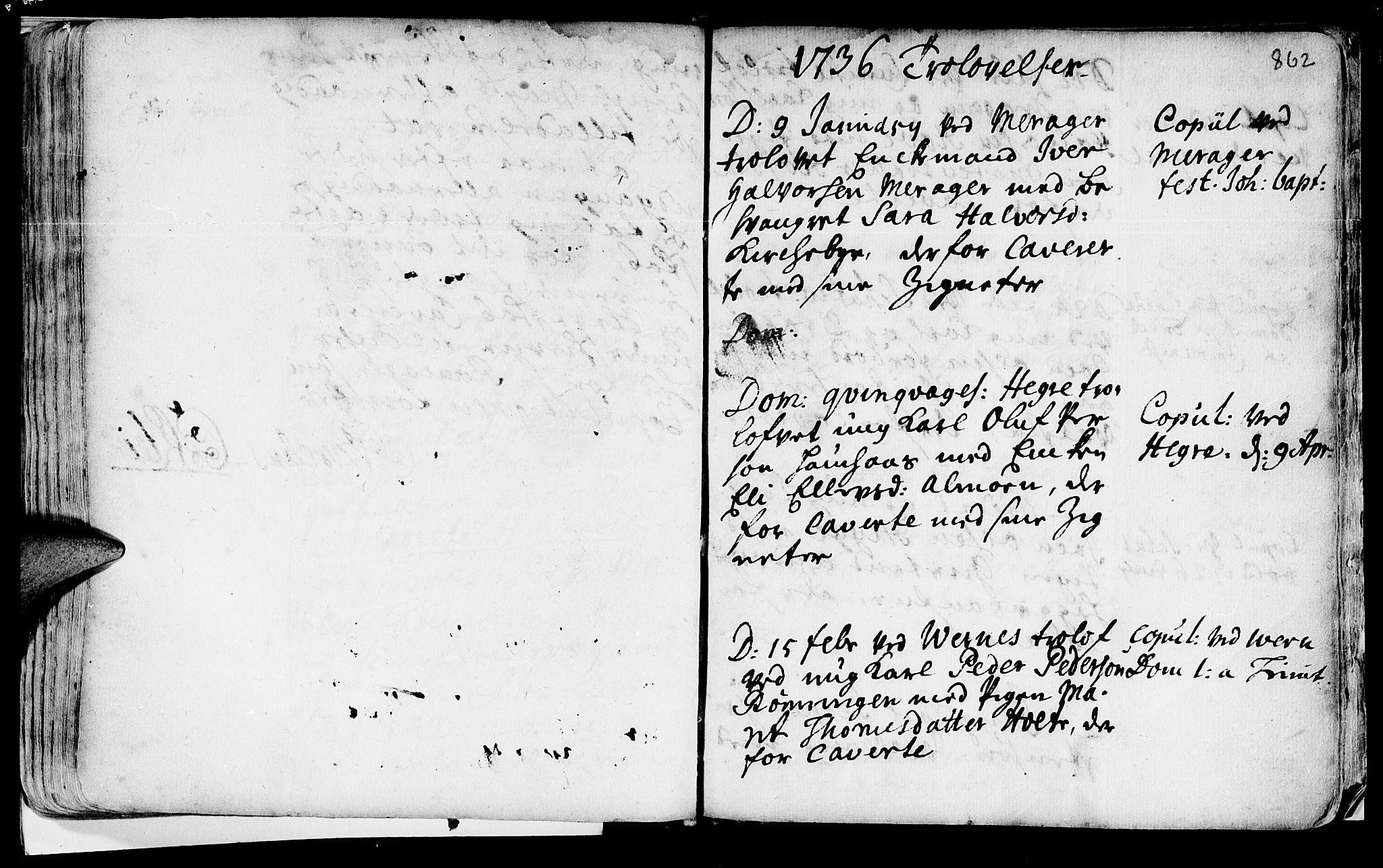SAT, Ministerialprotokoller, klokkerbøker og fødselsregistre - Nord-Trøndelag, 709/L0055: Ministerialbok nr. 709A03, 1730-1739, s. 861-862